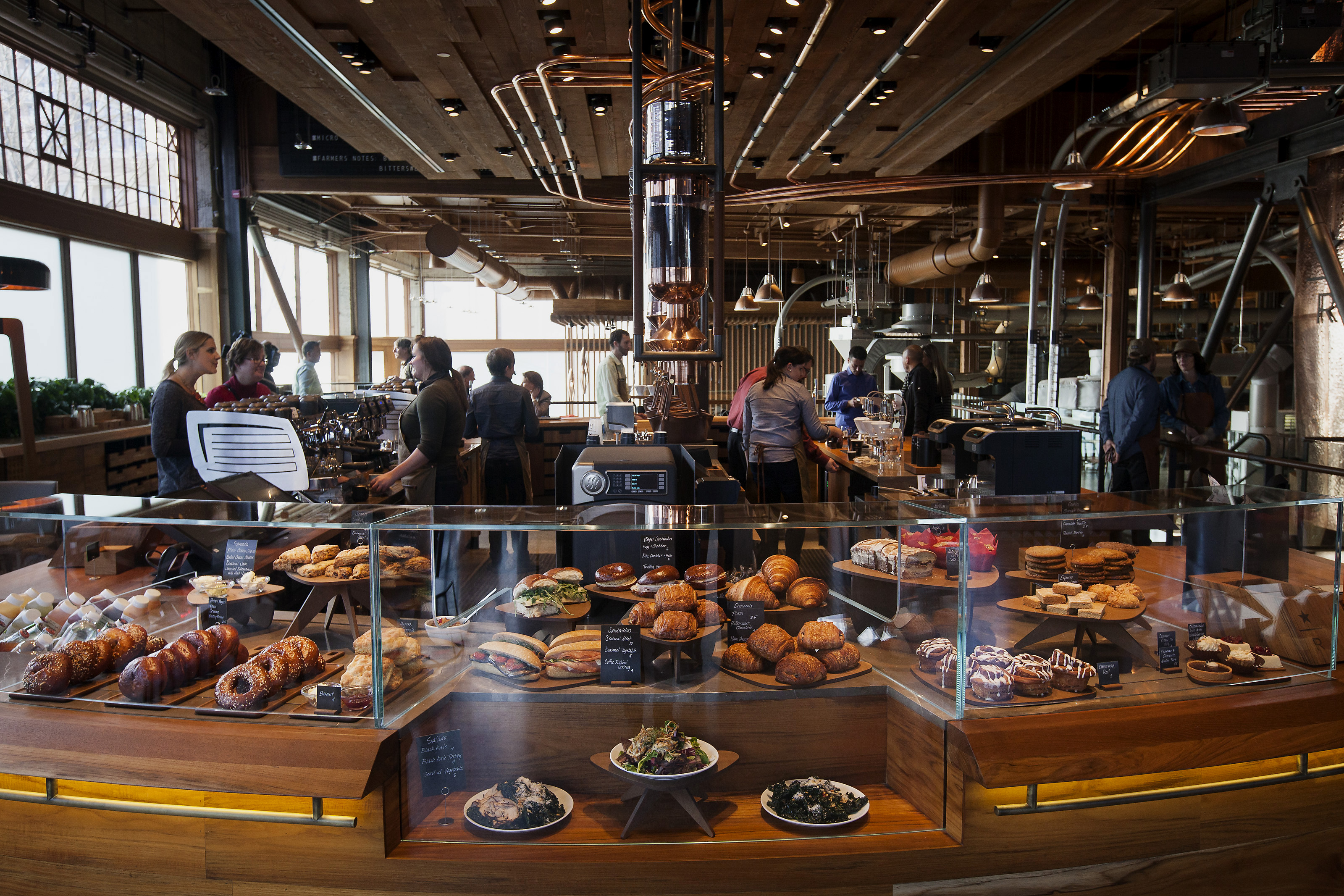 Operations Inside The Starbucks Corp. Reserve Roastery And Tasting Room