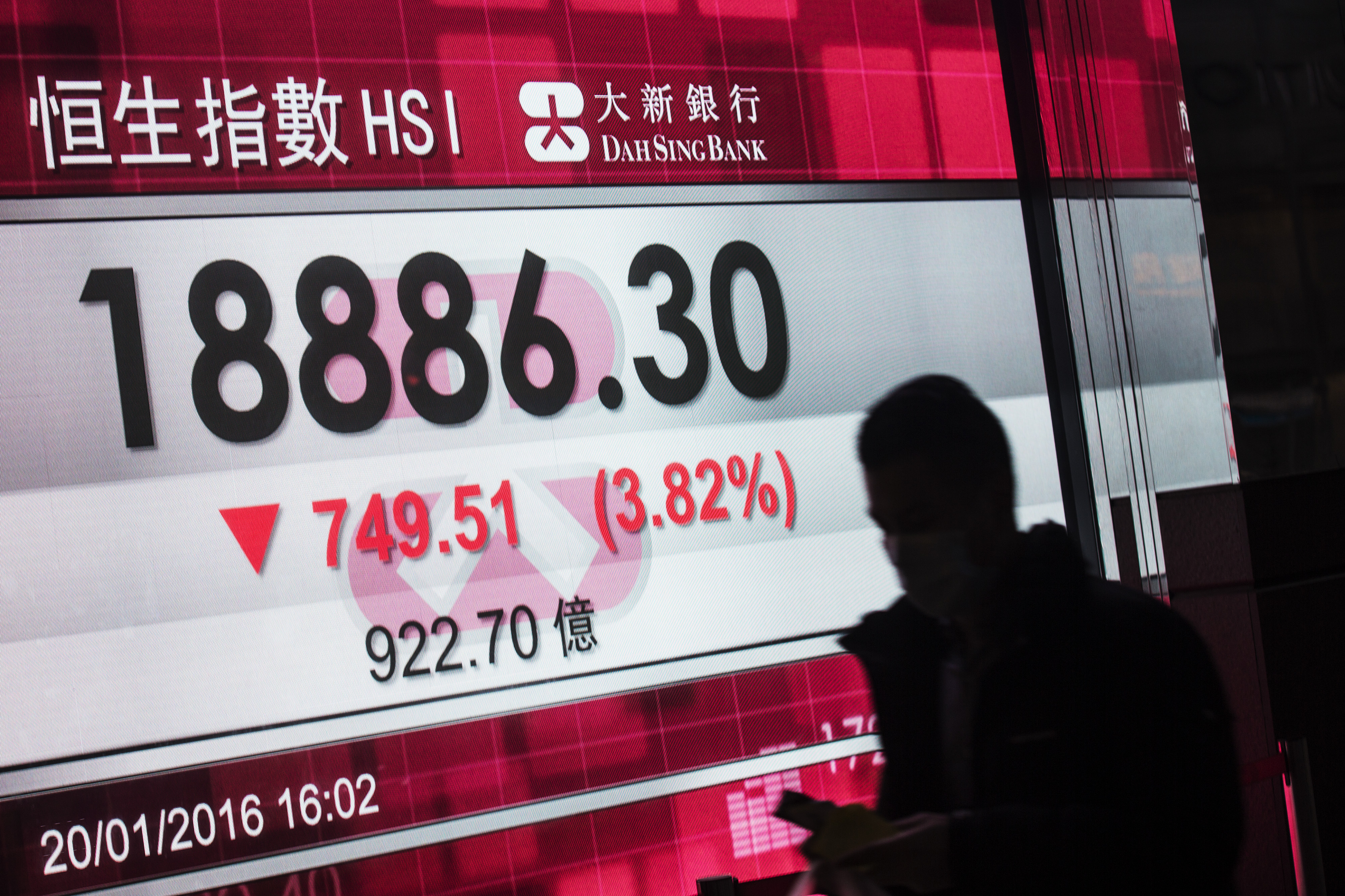 Chinese Stocks Slump in Hong Kong