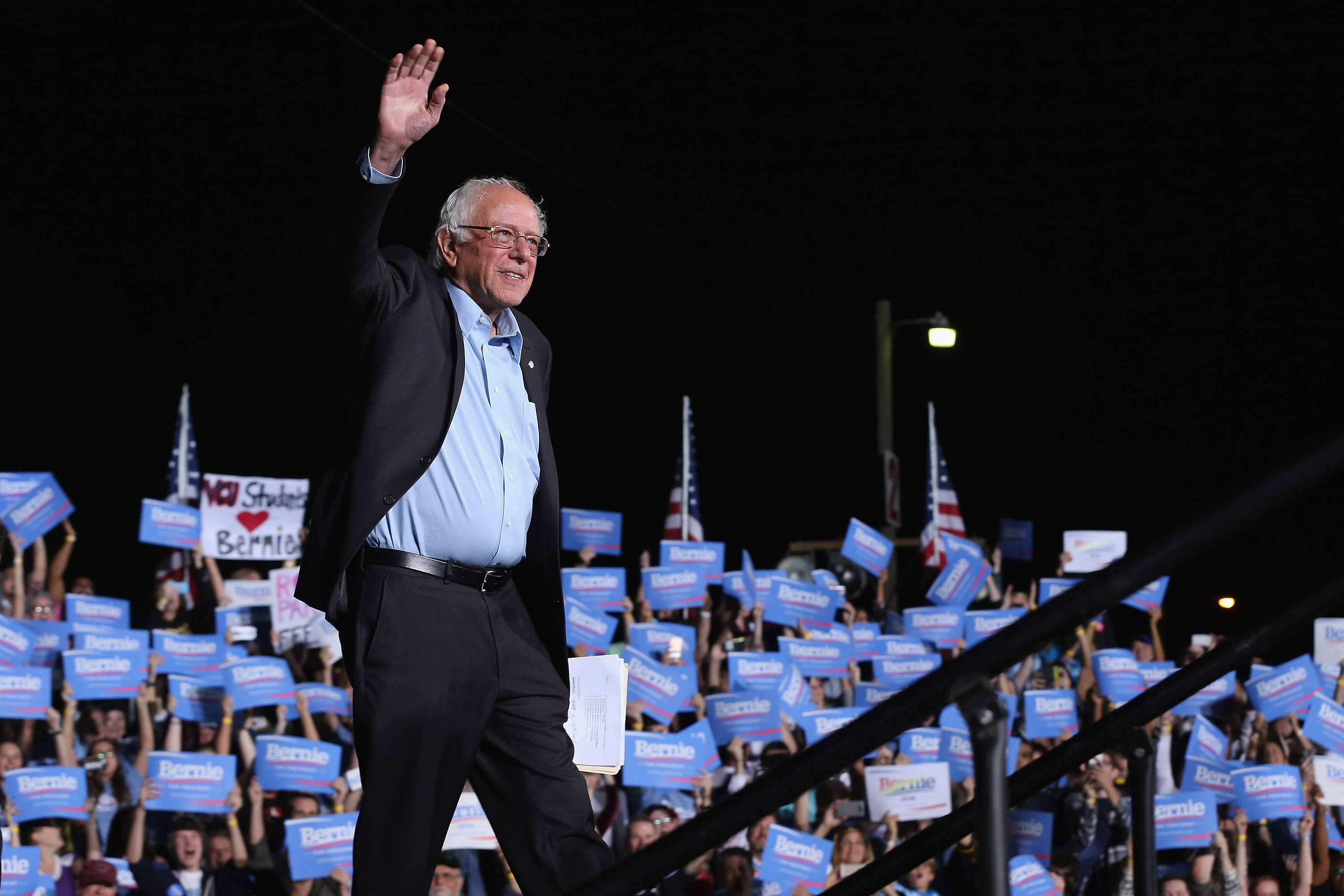 Bernie Sanders Holds Campaign Rally At Virginia Fairground