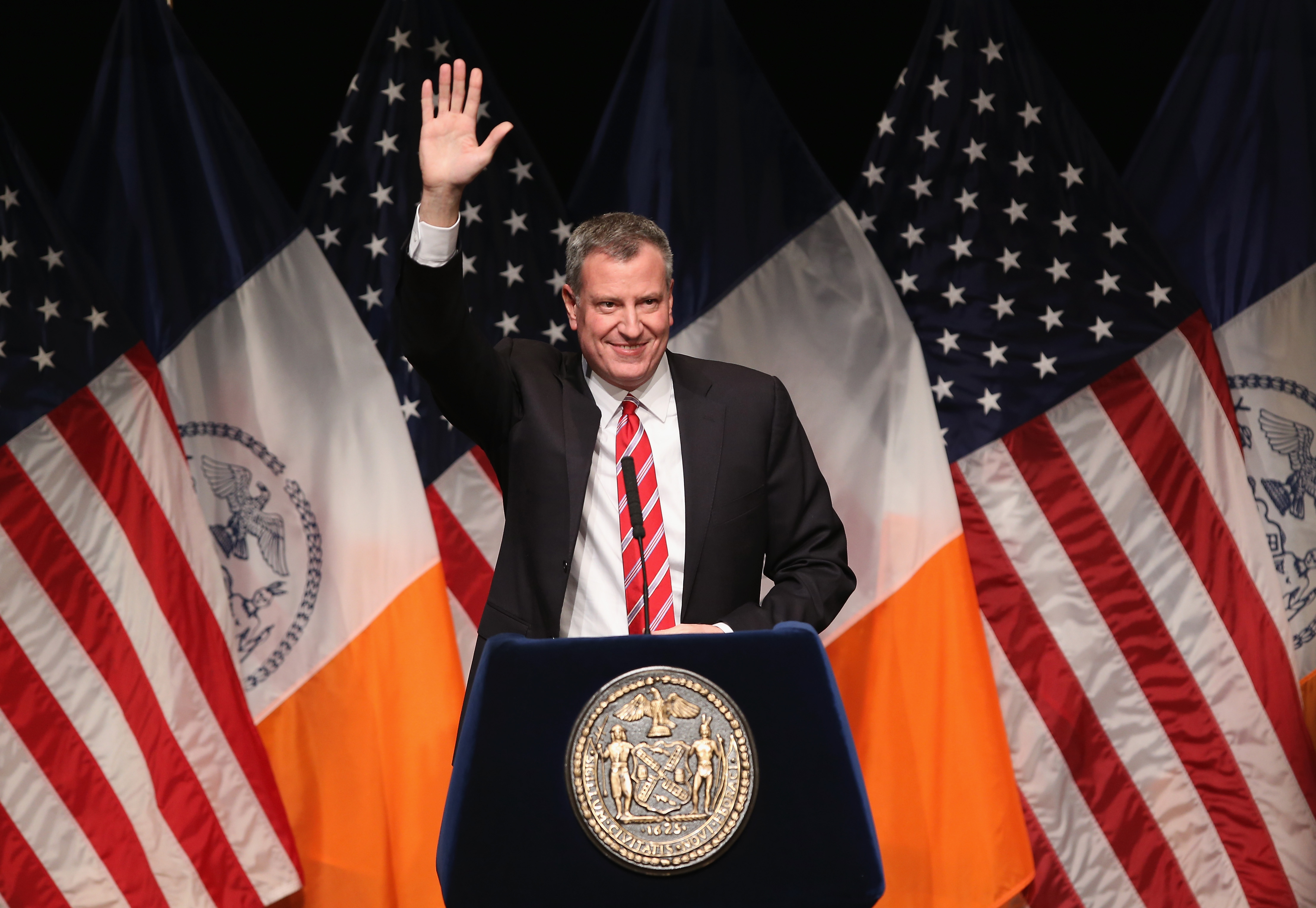New York City Mayor De Blasio Gives His State Of The City Address
