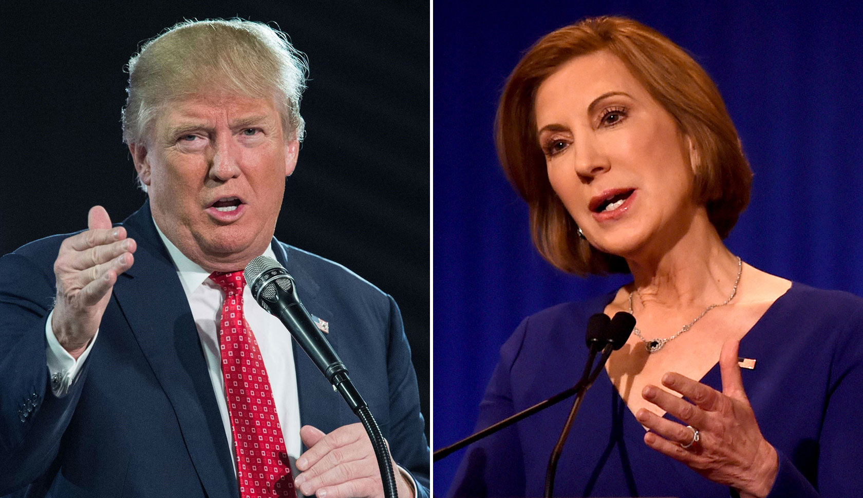 Carly Fiorina Donald Trump Split 2016