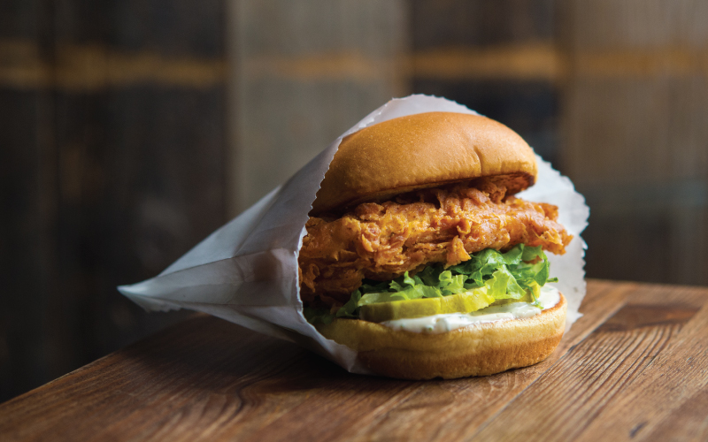Shake Shack's Chick'n Shack sandwich boosted sales in the first quarter of 2016.