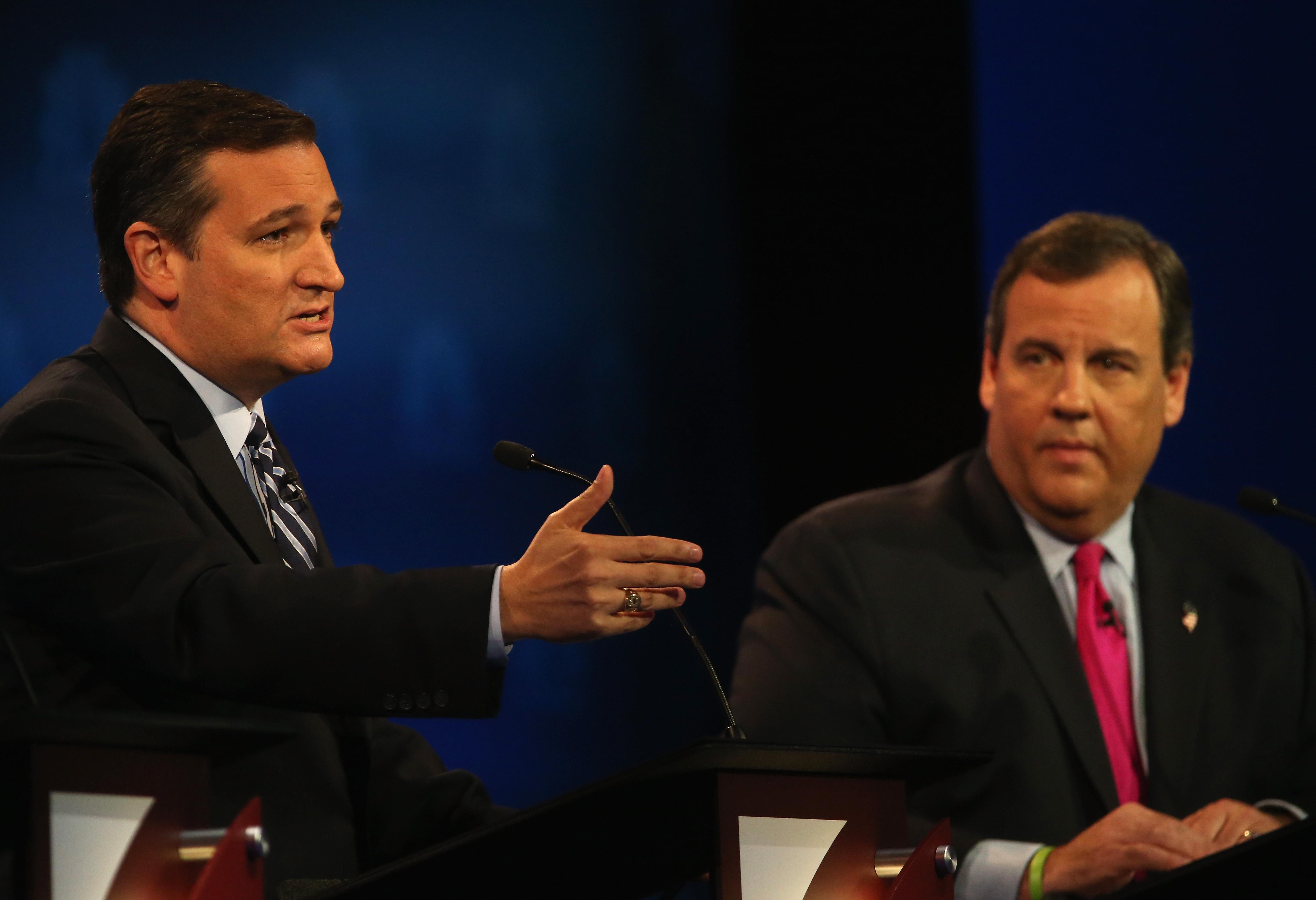 Ted Cruz and Chris Christie