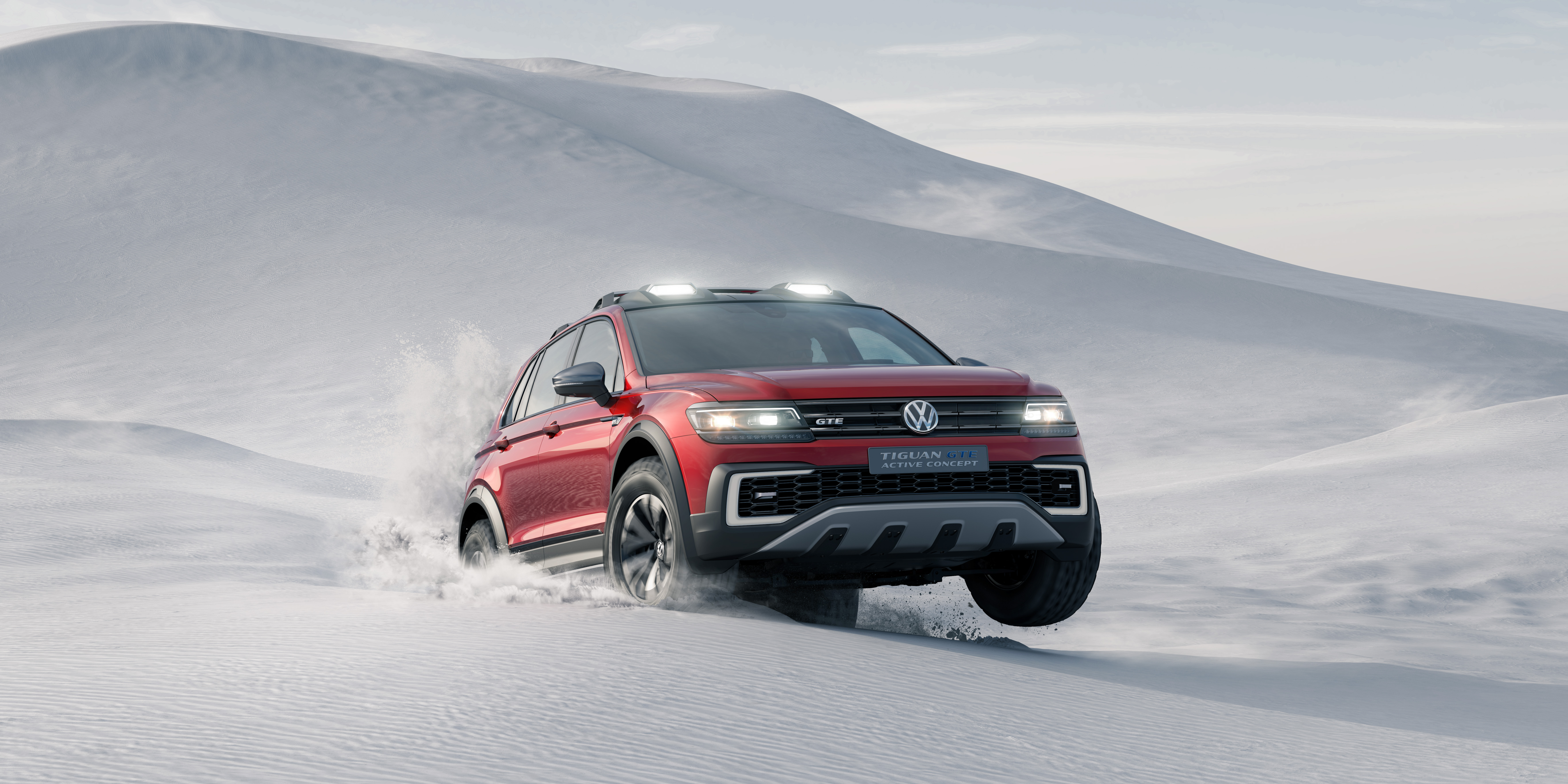 Volkswagen unveiled the Tiguan concept car at the North American International Auto Show in Detroit on Monday.