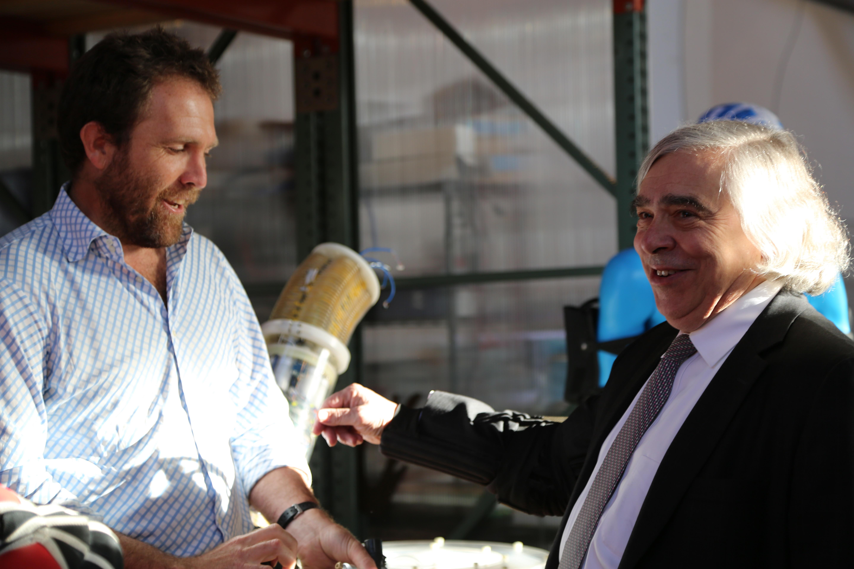 Energy Secretary Ernie Moniz tours Otherlab in San Francisco, an ARPA-E awardee.