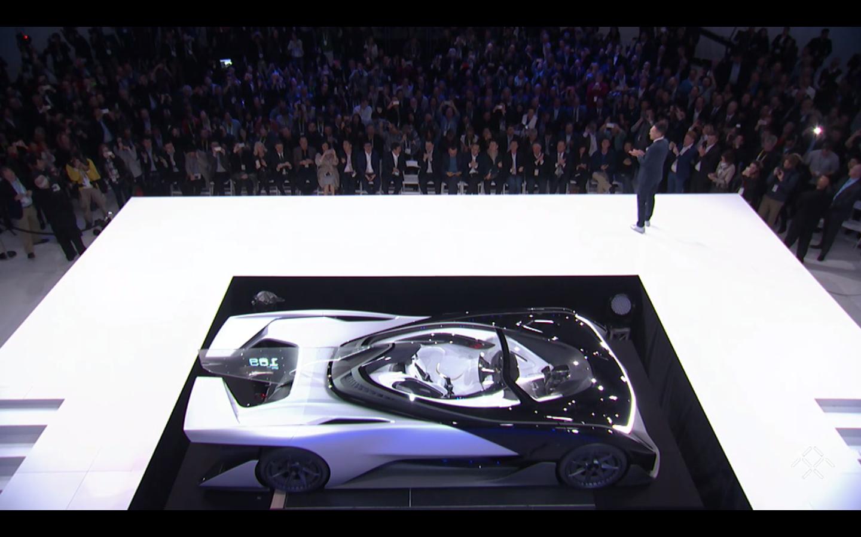 Faraday Future FFZERO1 concept car at CES 2016