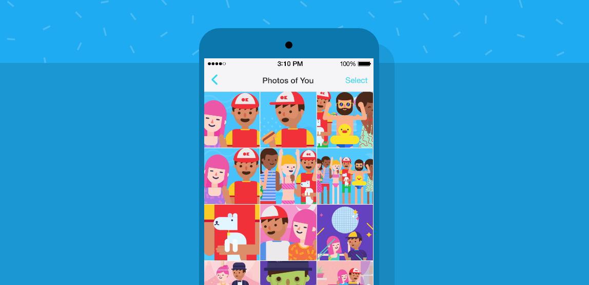 Facebook Moments app illustration