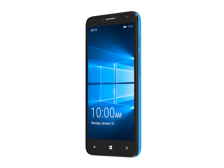 The Alcatel OneTouch Fierce XL Windows 10 smartphone.