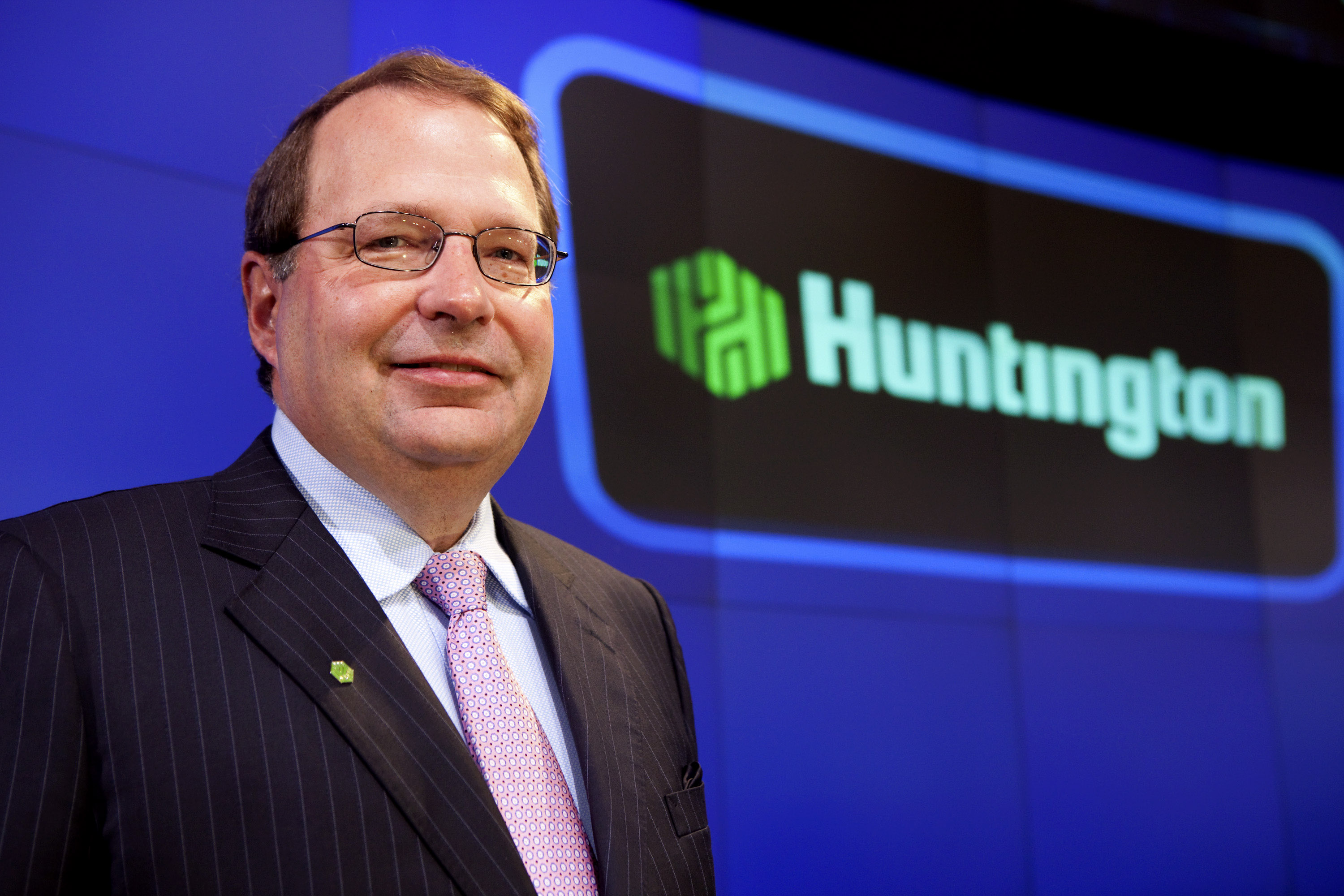 Huntington Bancshares CEO Steve Steinour Rings Nasdaq Opening Bell