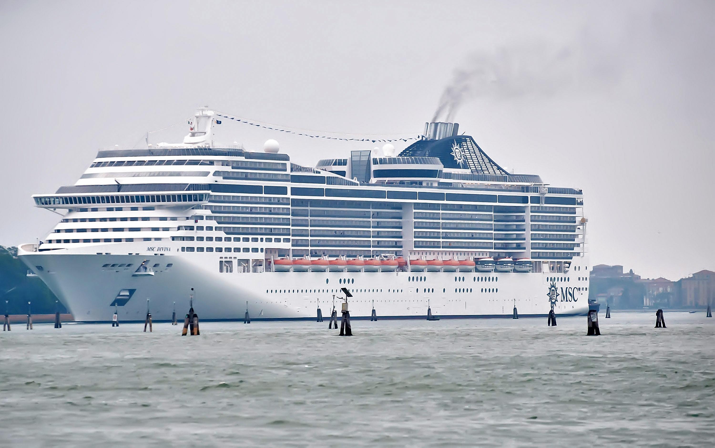 Maxi Cruise MSC Divina Sails Into Venice Amid Protests