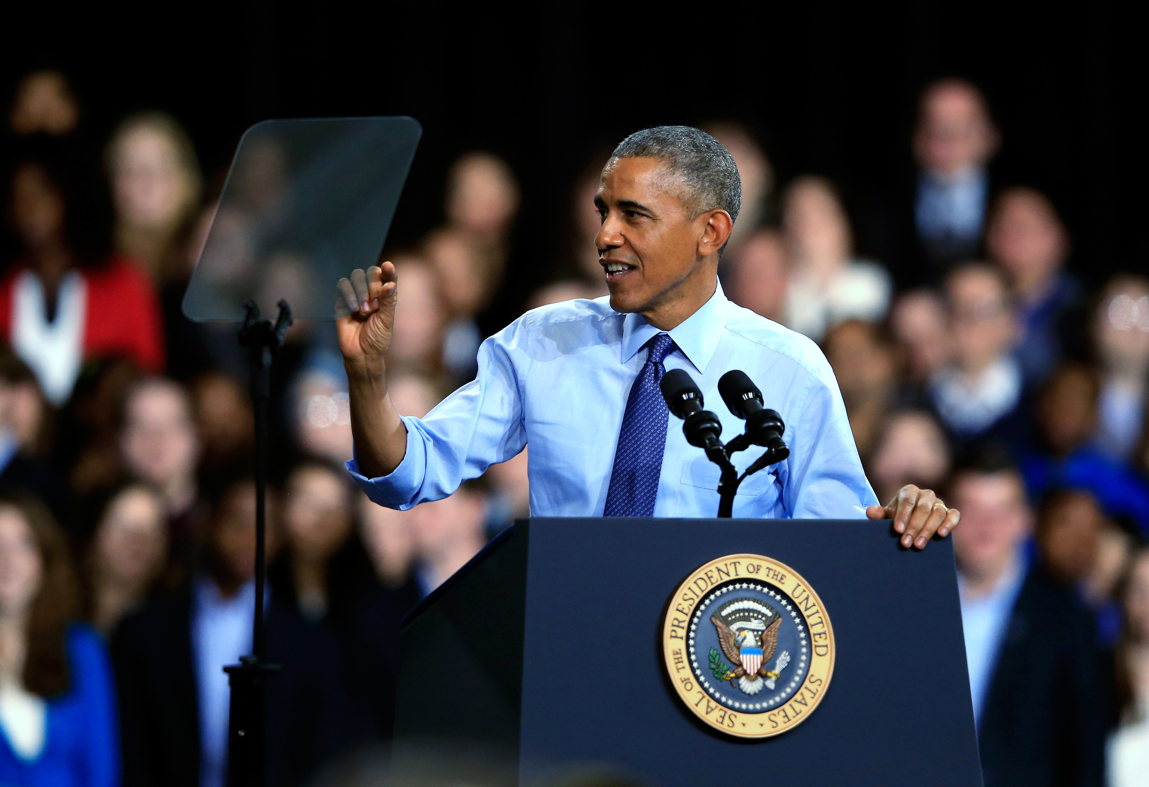 President Obama Speaks At The University Of Kansas