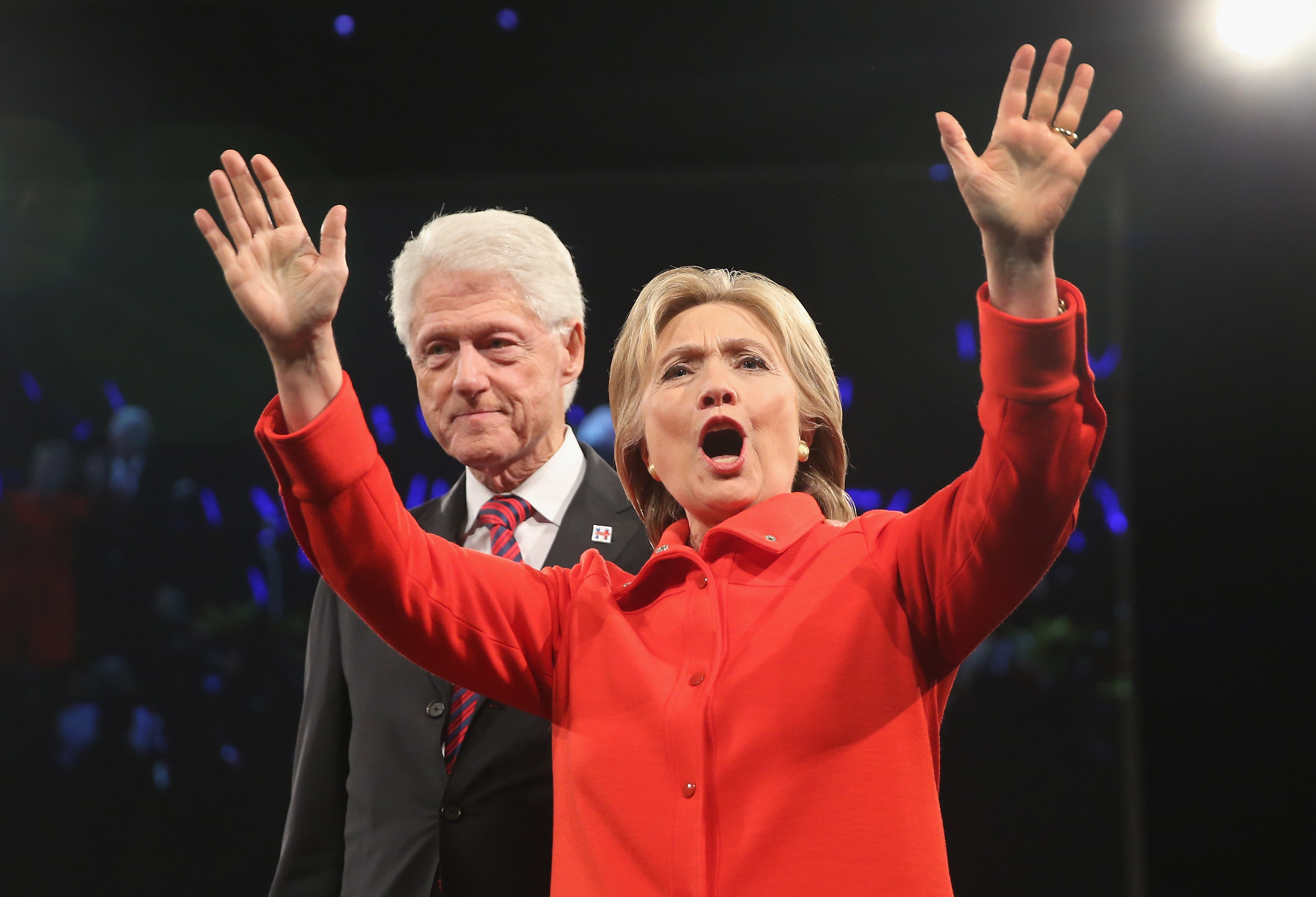 Hillary Clinton and Bill Clinton Jefferson-Jackson Dinner 2015