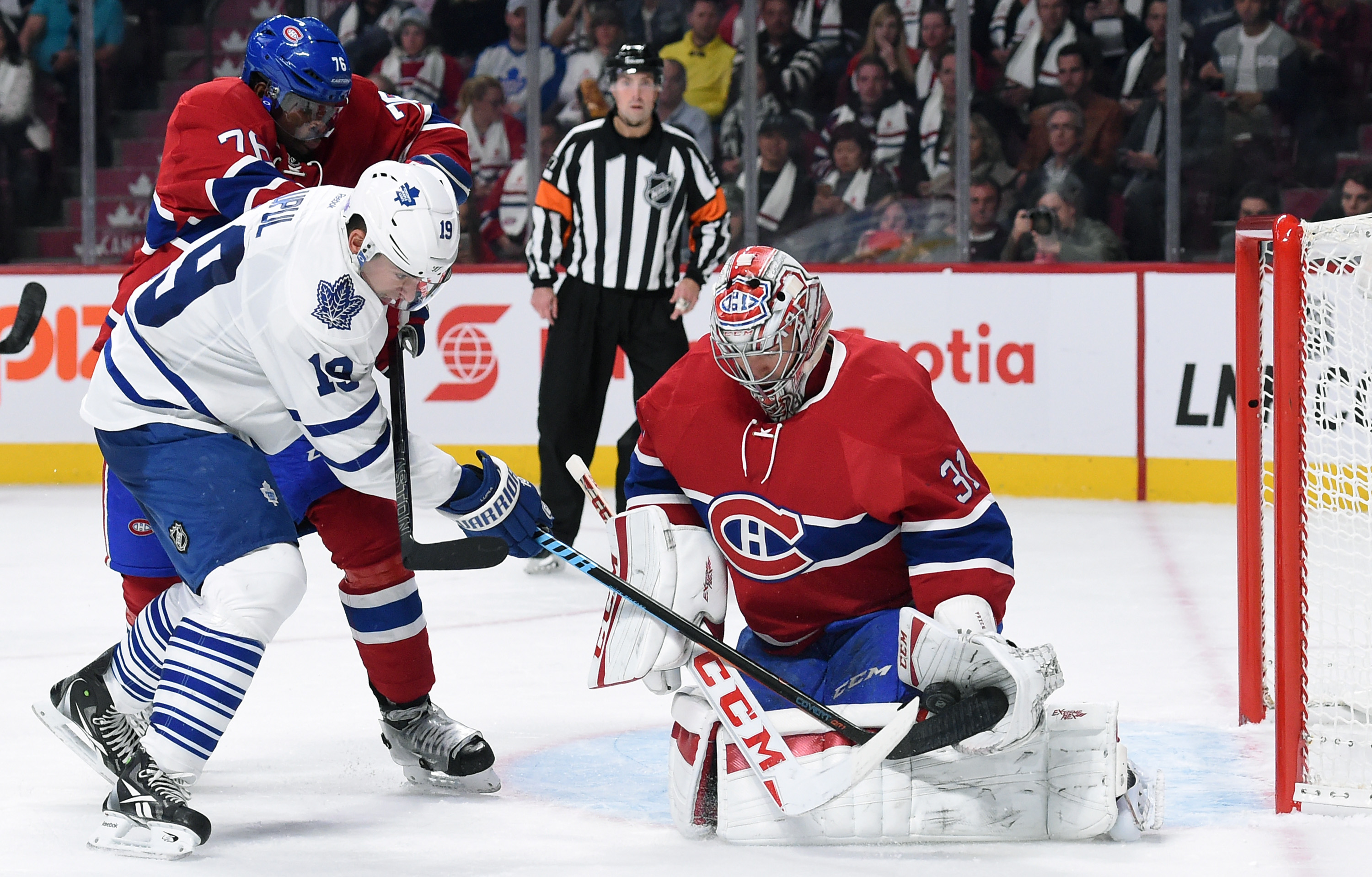 MONTREAL, QC - OCTOBER 24: of the Montreal Canadiens of the Toronto Maple Leafs in the NHL game at the Bell Centre on October 24, 2015 in Montreal, Quebec, Canada. (Photo by Francois Lacasse/NHLI via Getty Images) *** Local Caption ***
