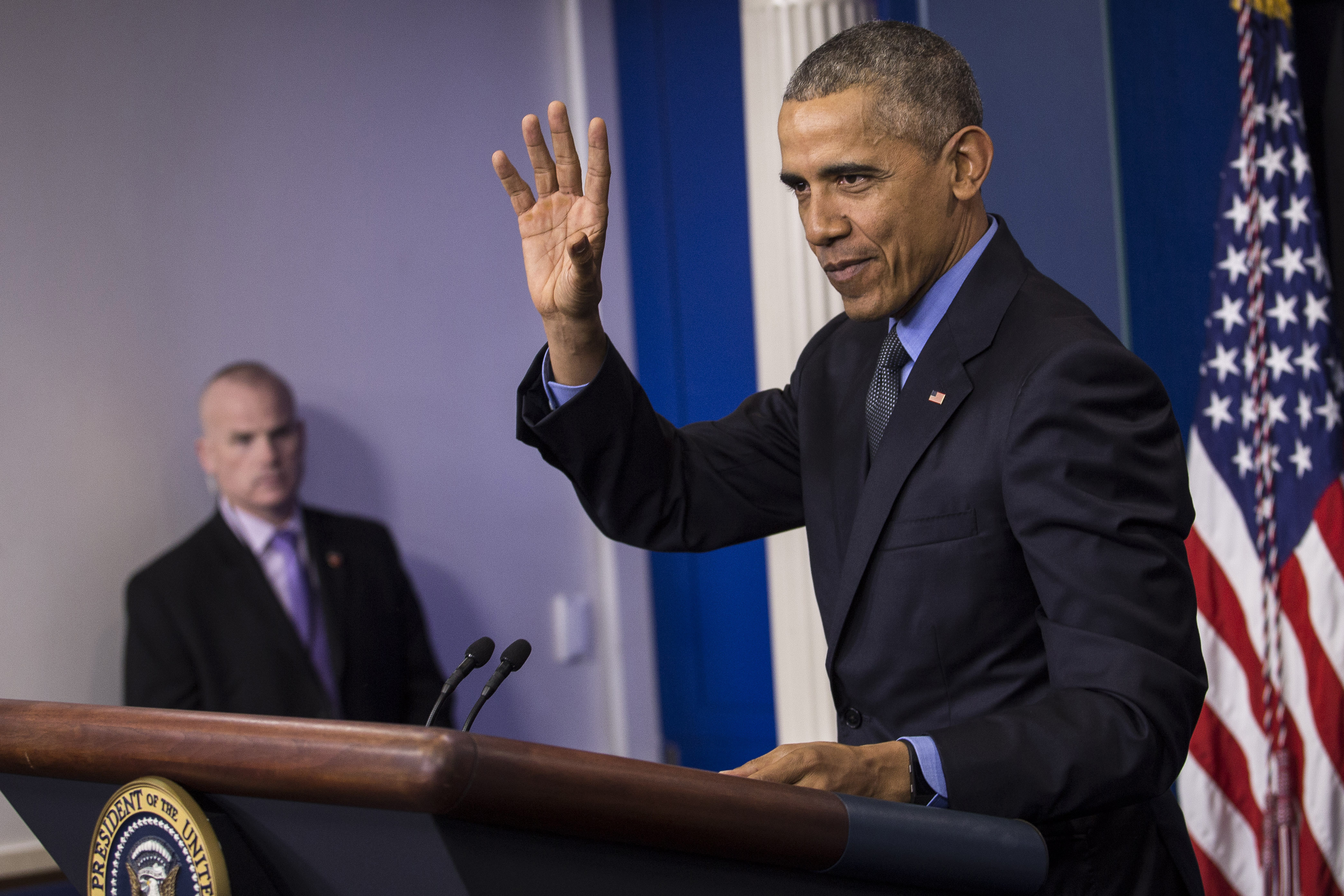 President Barack Obama Holds News Conference Before Hawaii Vacation