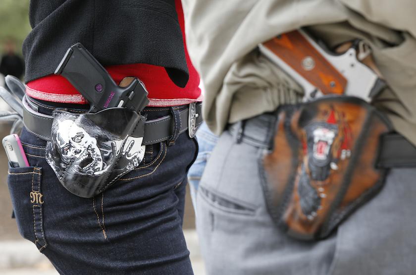 Open carry gun rally in Austin, Texas.