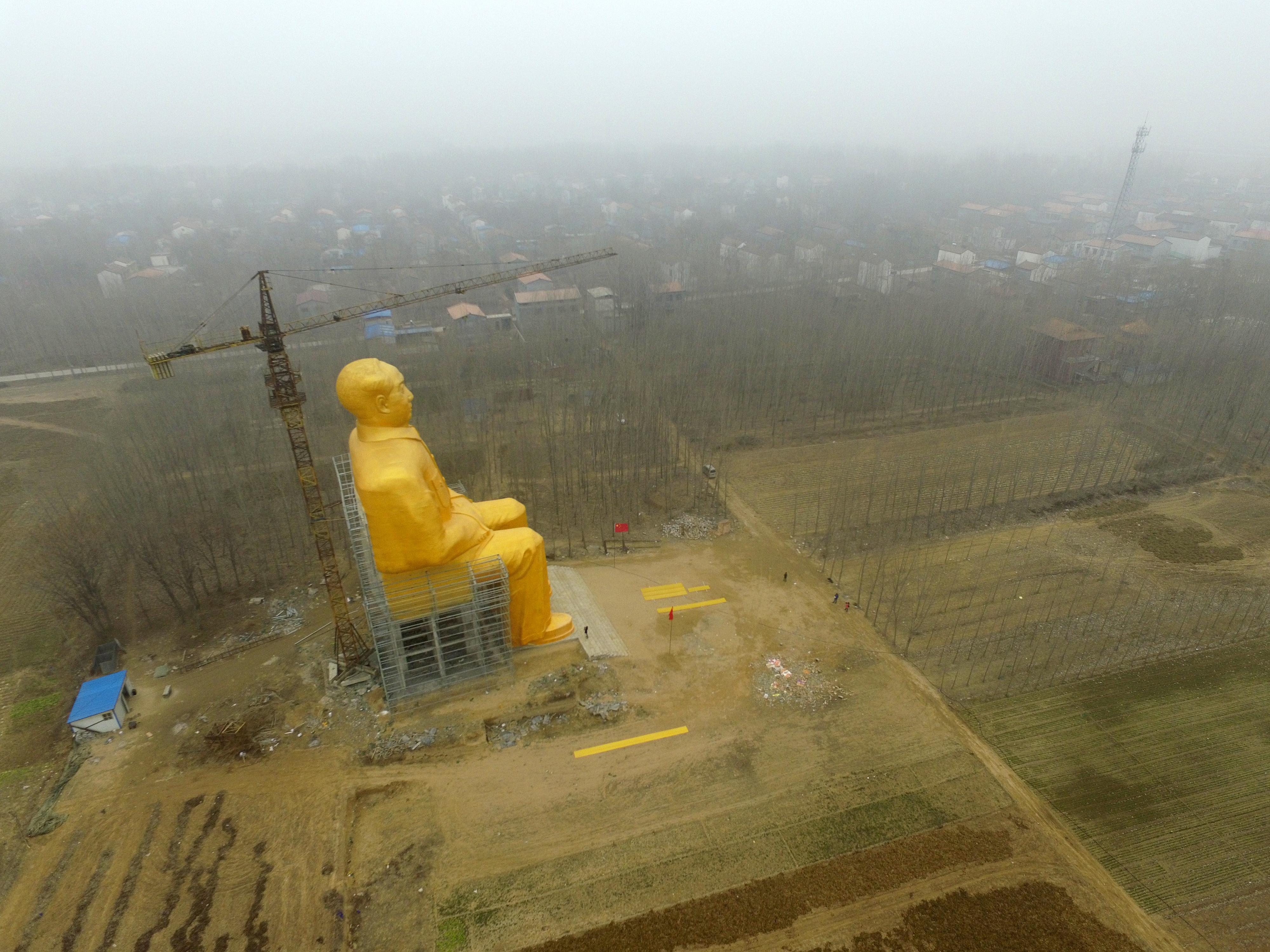 Mao Zedong Statue In Henan