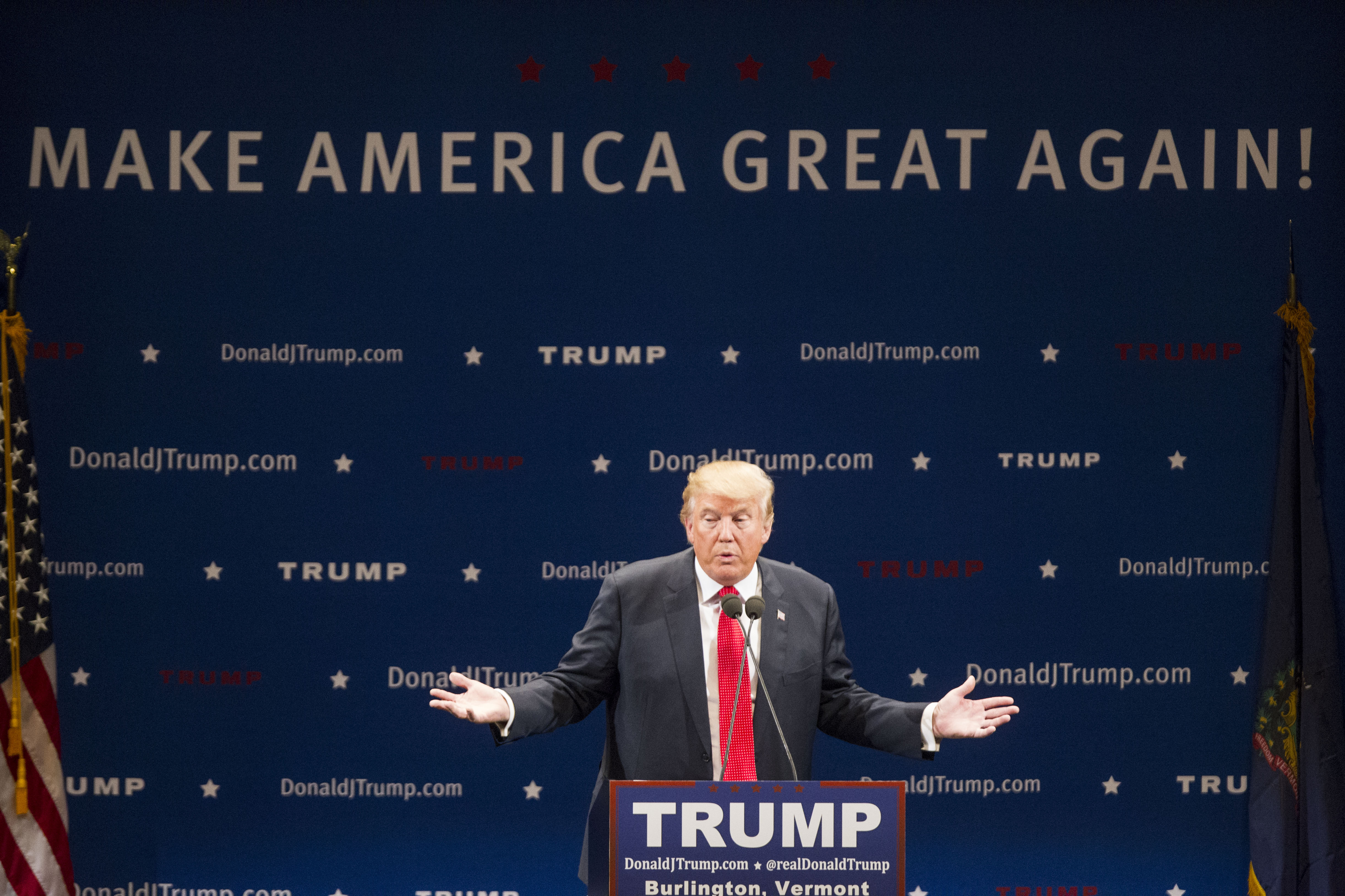 Donald Trump Holds Campaign Rally In Burlington, VT