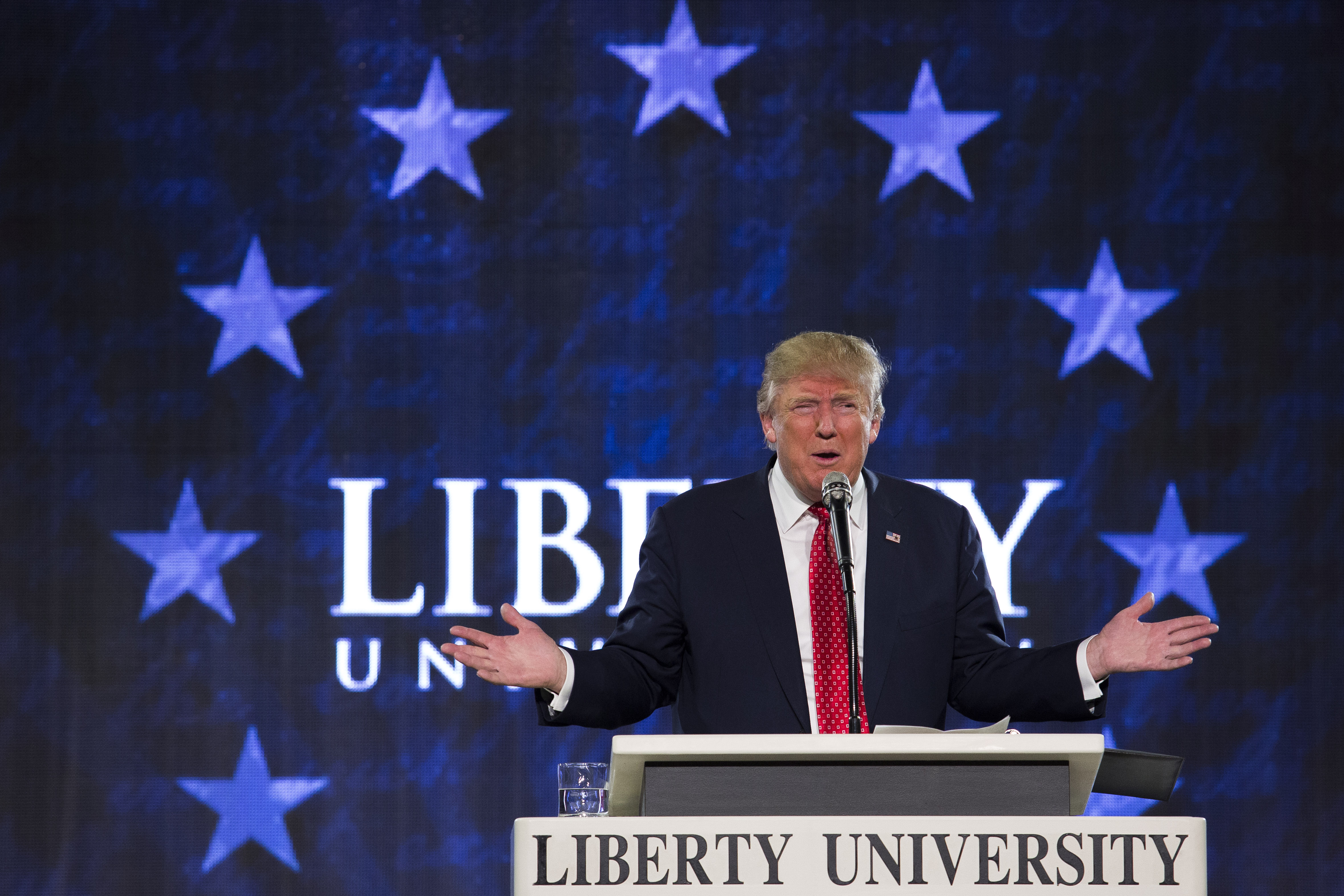 Presidential Candidate Donald Trump Speaks At Liberty University Convocation