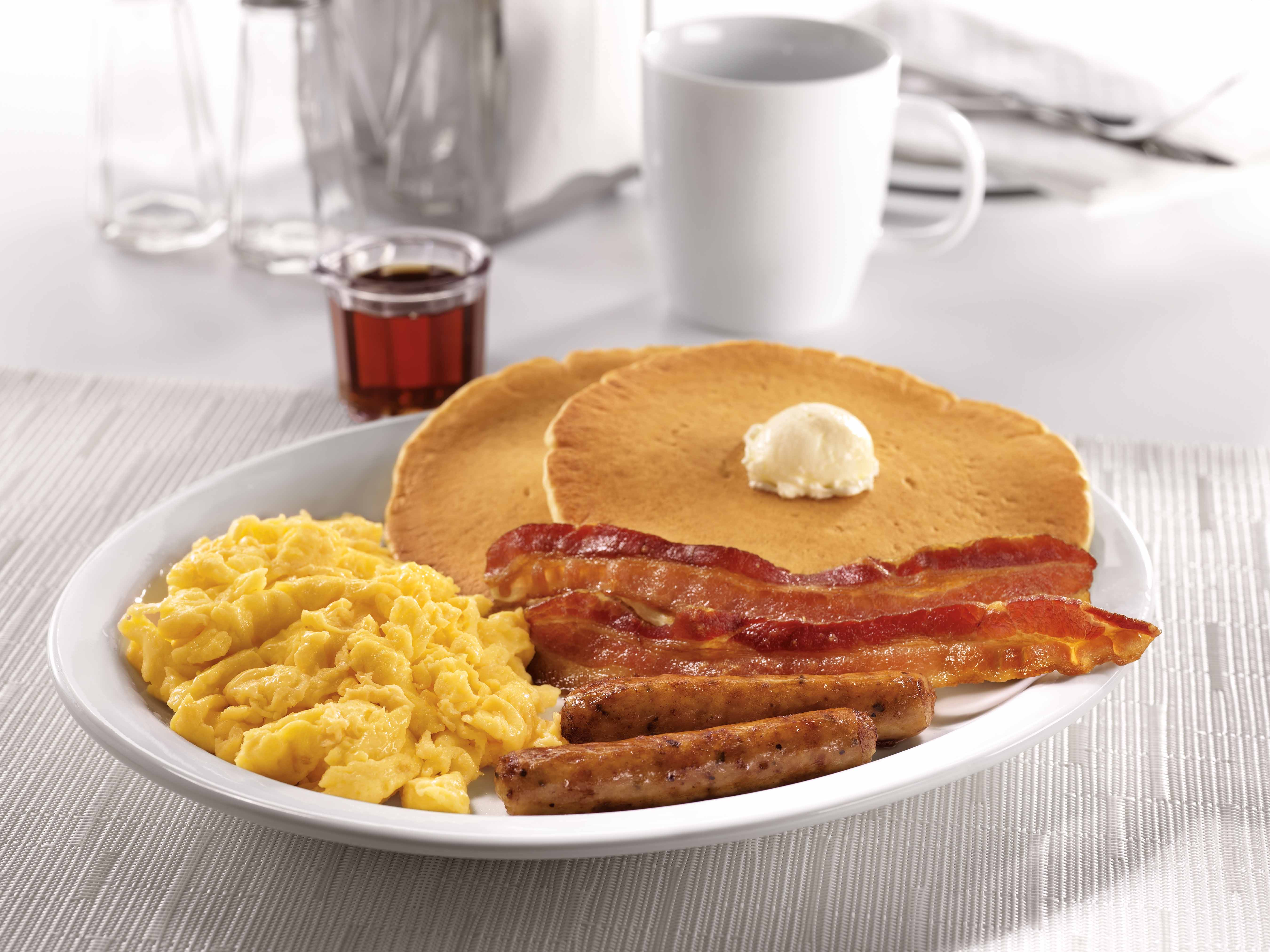 An image of Denny's  Grand Slam breakfast.