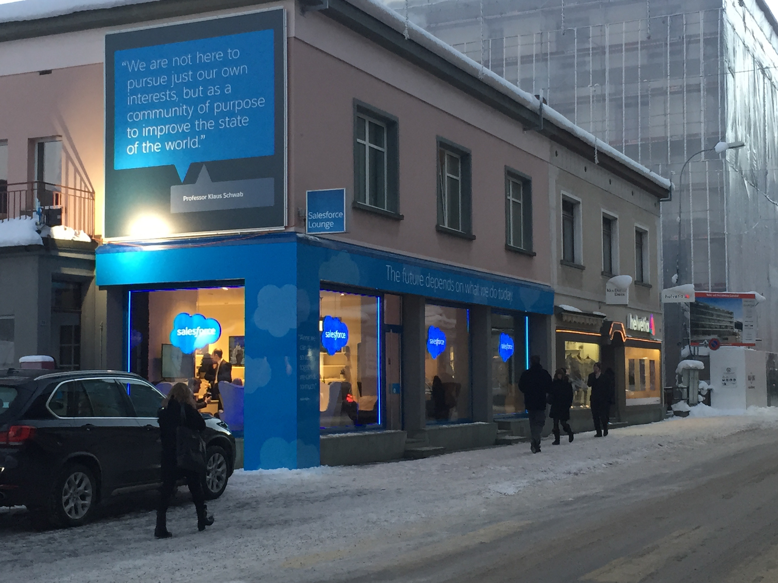 Salesforce pop-up store in Davos, Switzerland.