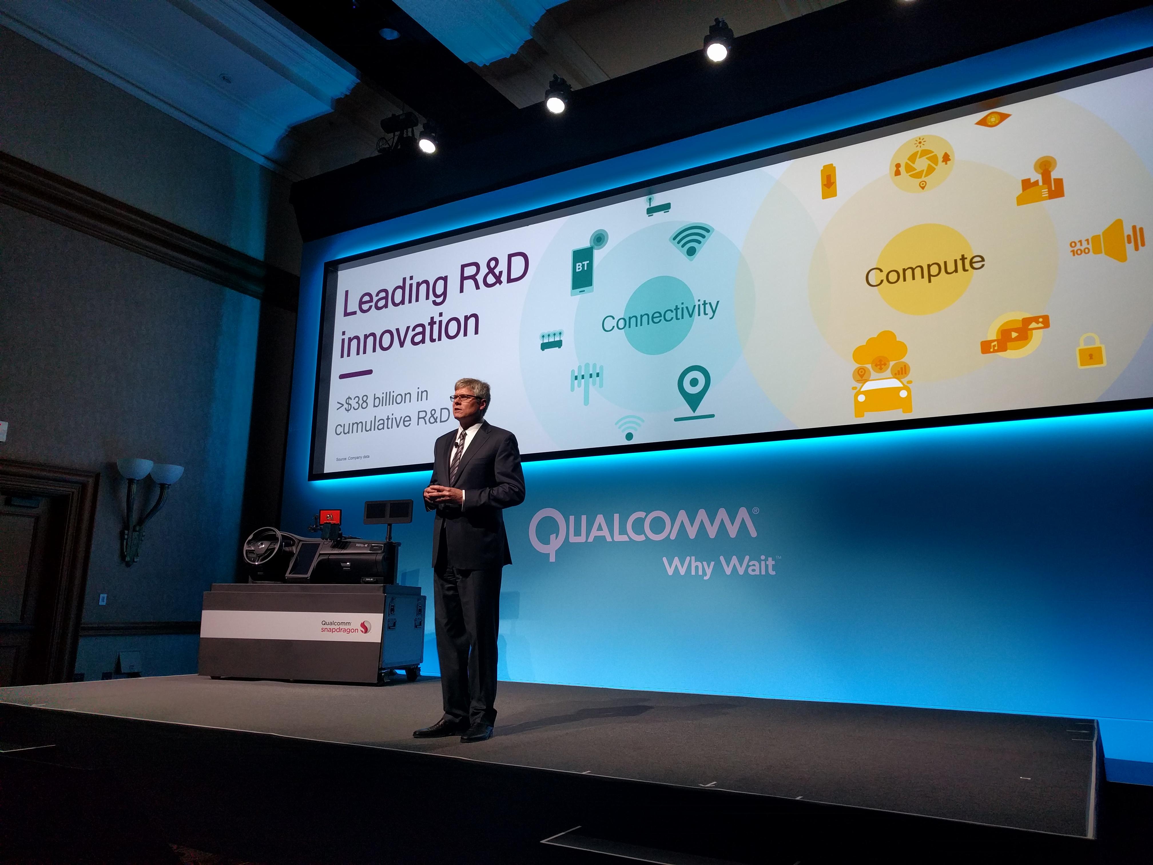 Qualcomm CEO Steve Mollenkopf at CES 2016.