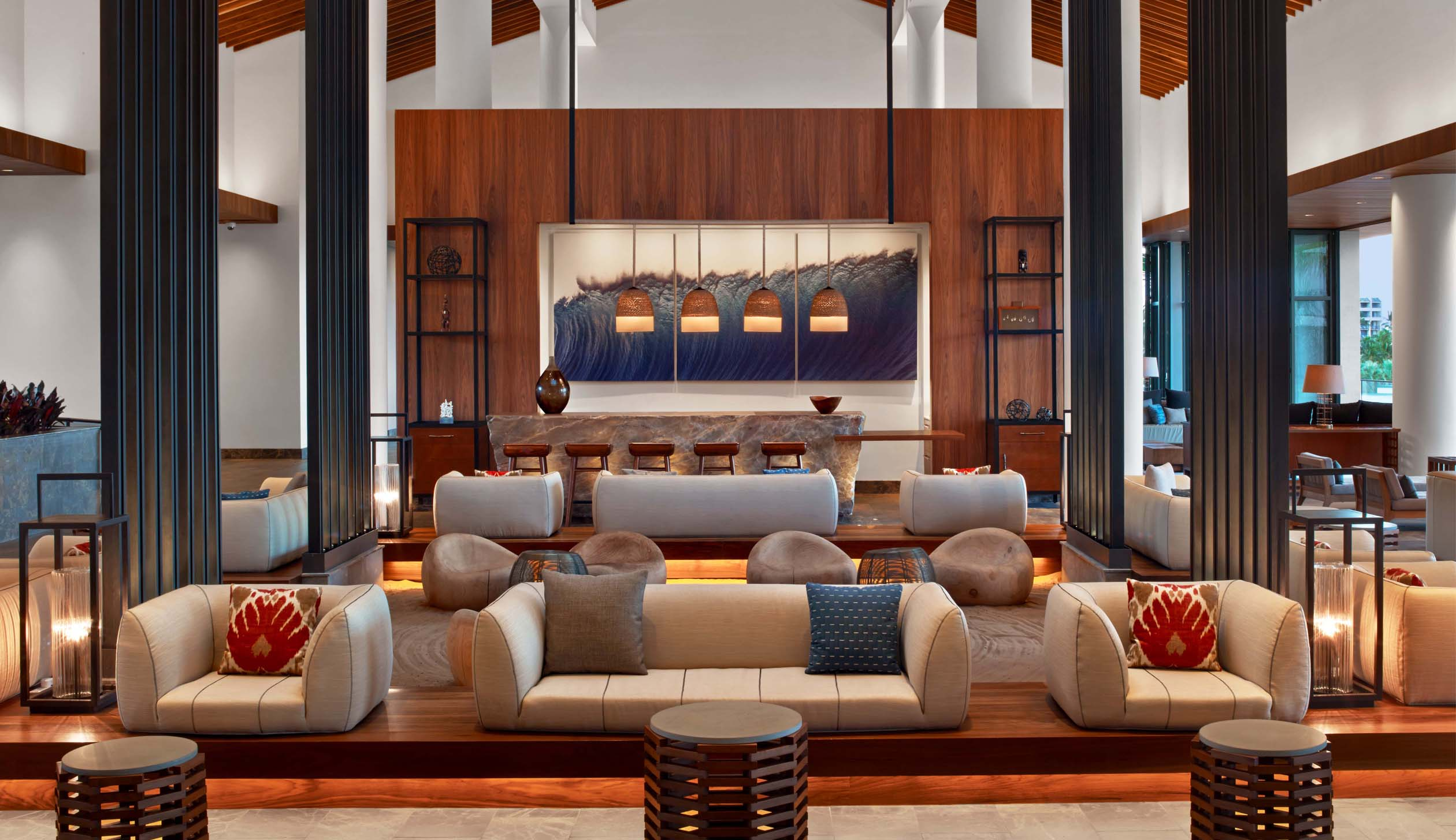 The bar and lounge at the Andaz Maui at Wailea Resort, one of a relatively new line of boutique hotels opened by Hyatt.
