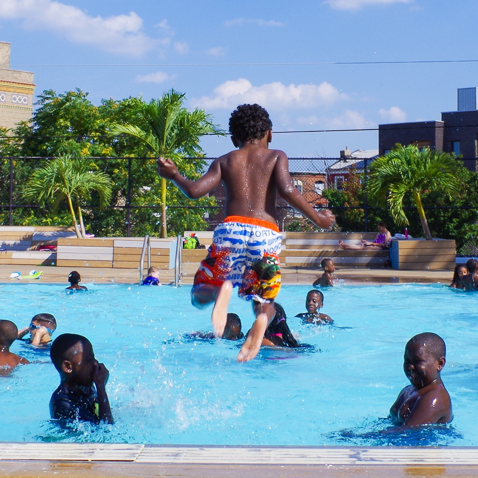 Philadelphia's Pop-Up Pool Project added amenities to a lackluster public pool and brought a community together.