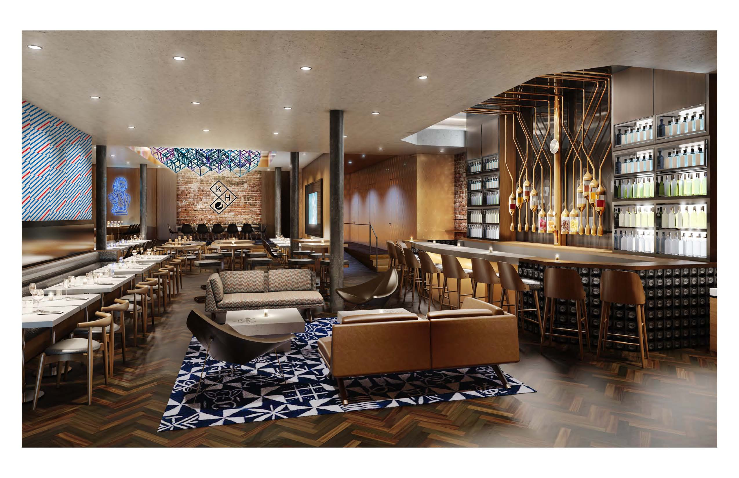 This rendering shows Kola House, an experimental restaurant that Pepsi is opening this spring in New York City.