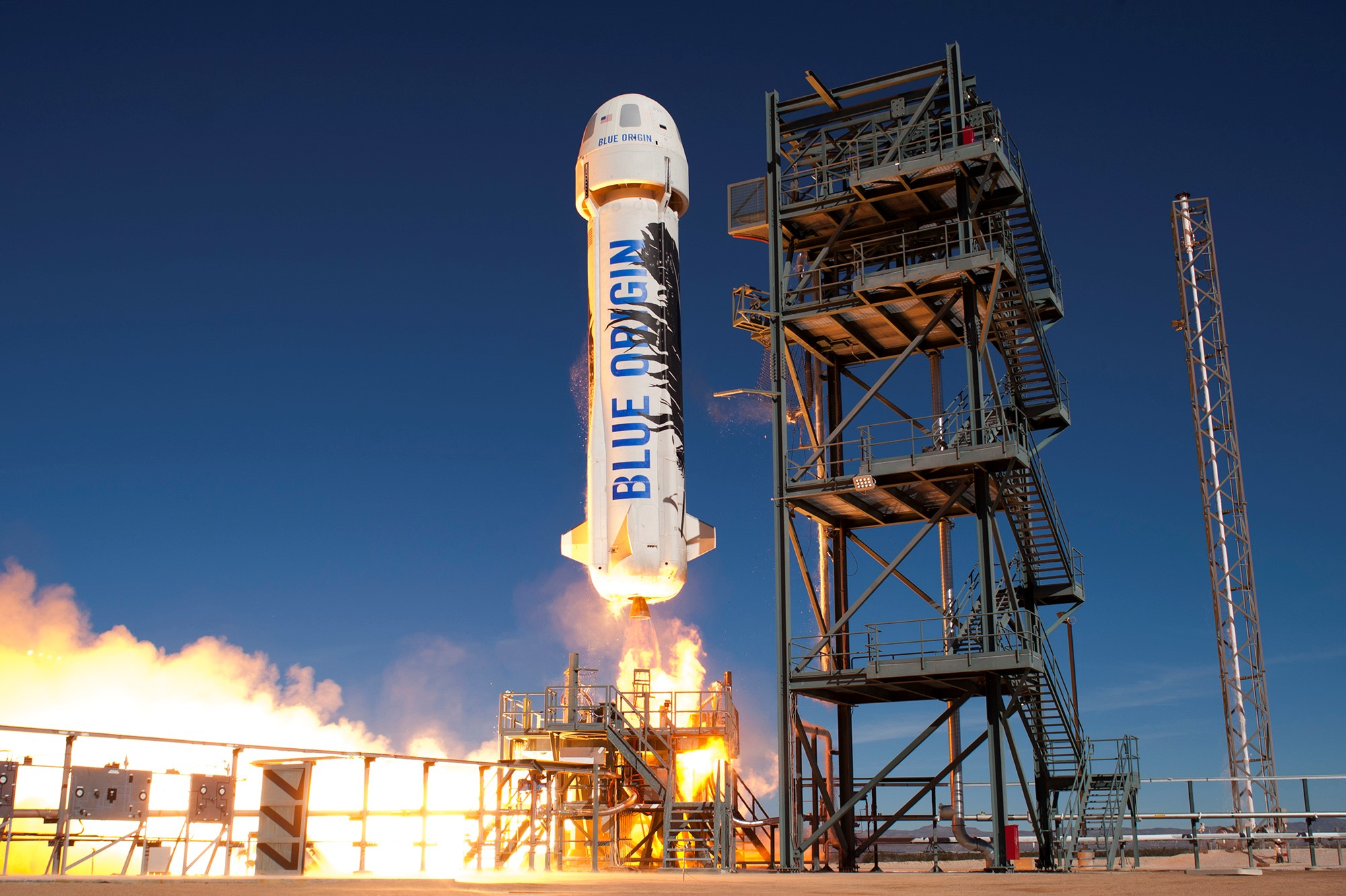 Blue Origin's New Shepard launches and lands a second time, making it the first truly reusable rocket.