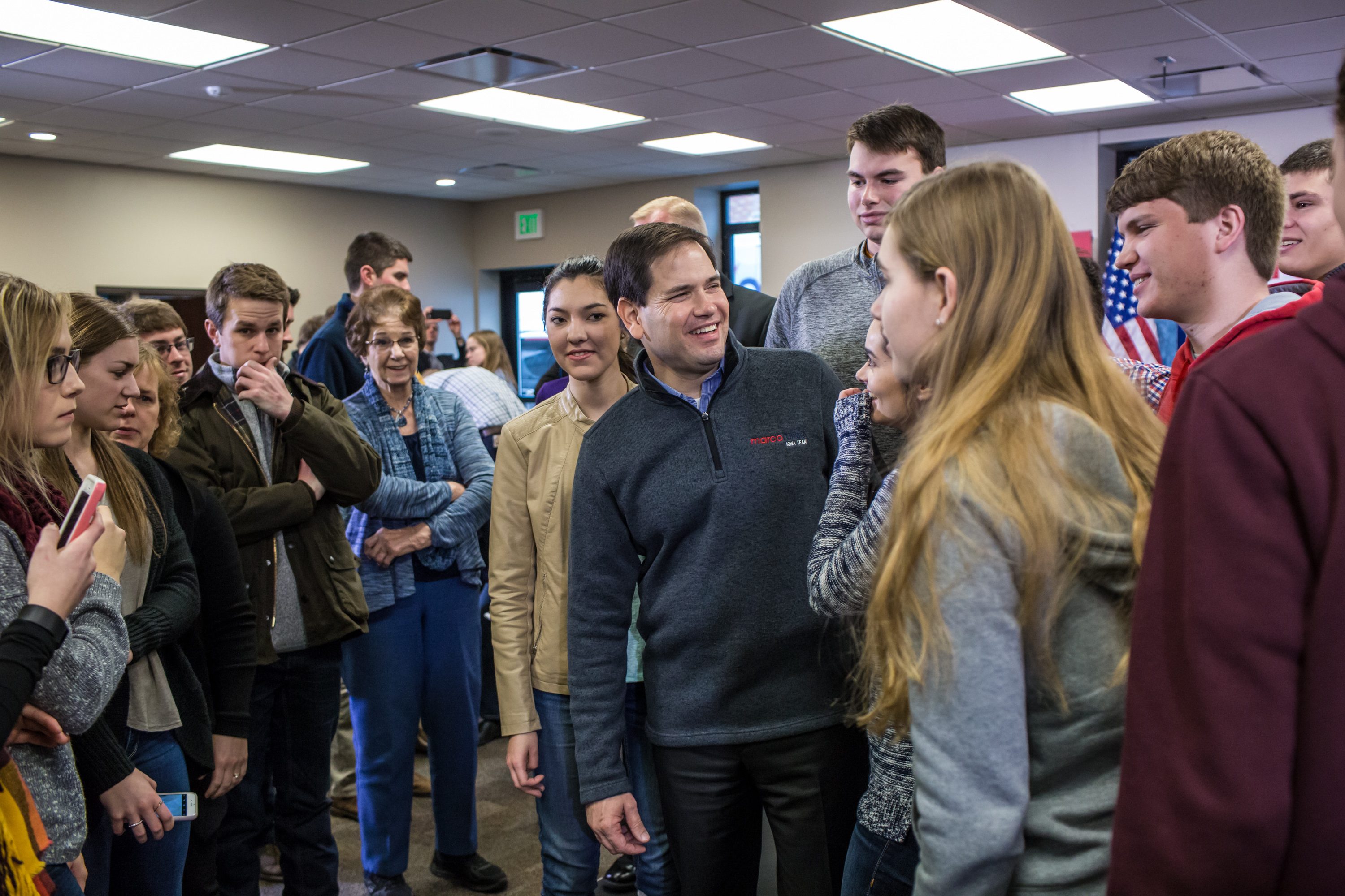Marco Rubio (R-FL) Campaigns In Iowa Ahead Of State's Caucus