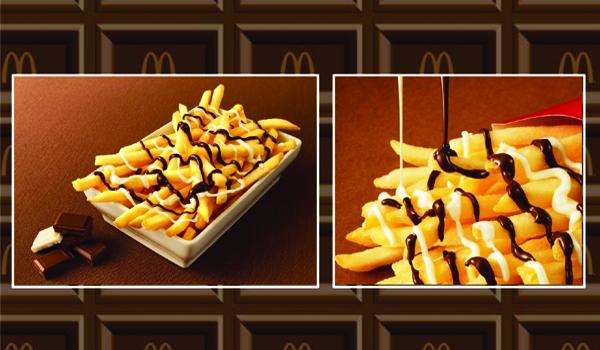 """McChoco Potato,"" McDonald's new chocolate-covered fries."