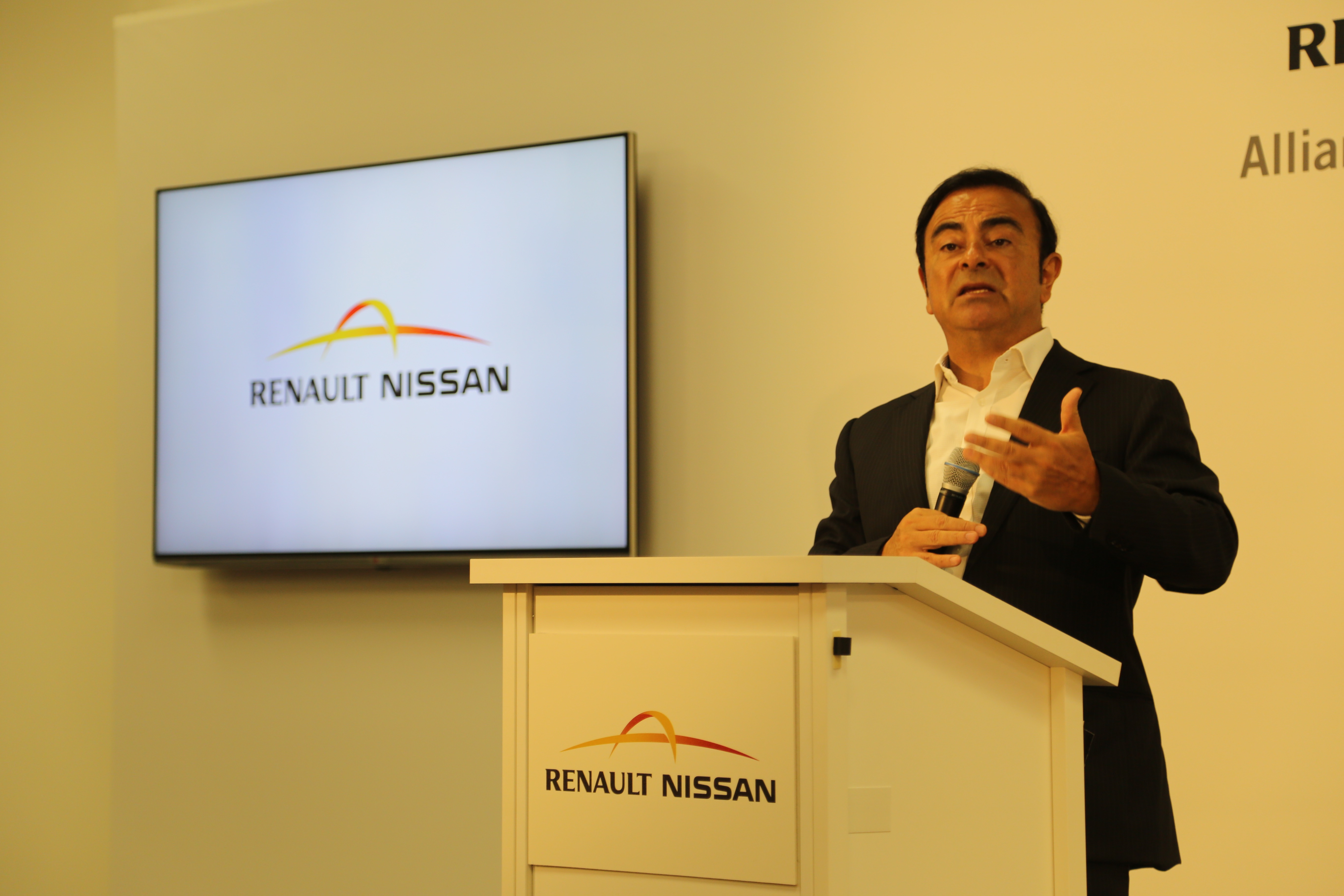 Nissan's CEO Carlos Ghosn at Nissan's Silicon Valley Research Center in Sunnyvale, Calif.