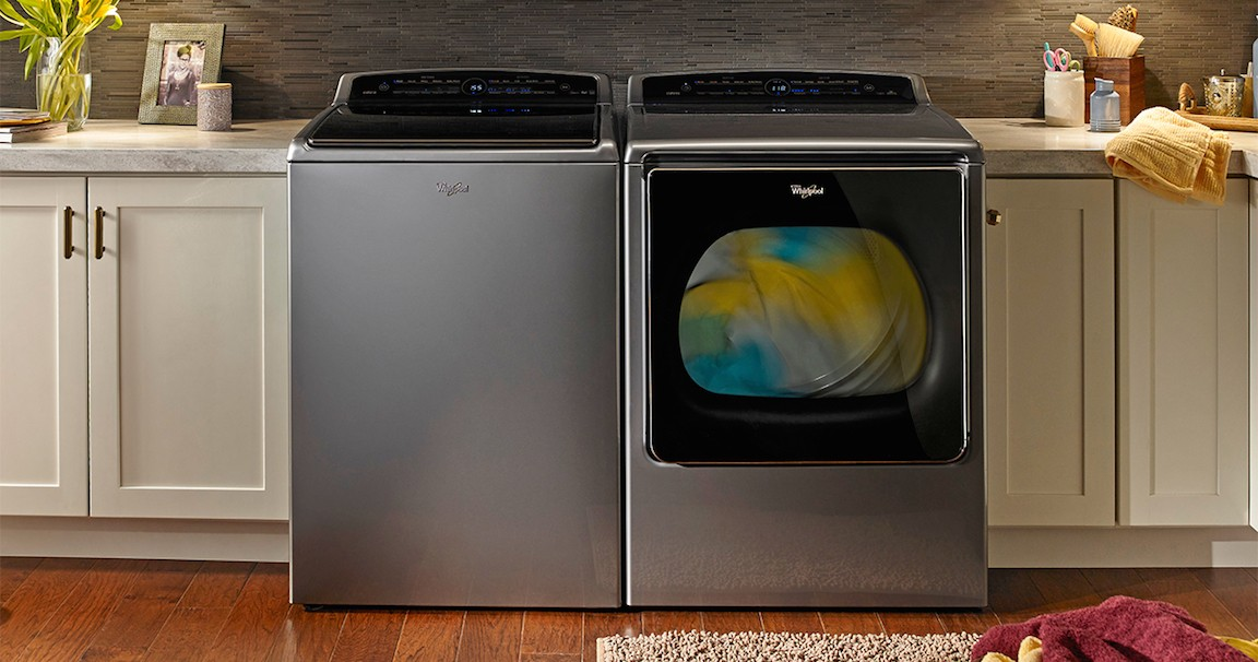 Whirlpool's latest washer and dryer integrate with Amazon to automate reordering soap.
