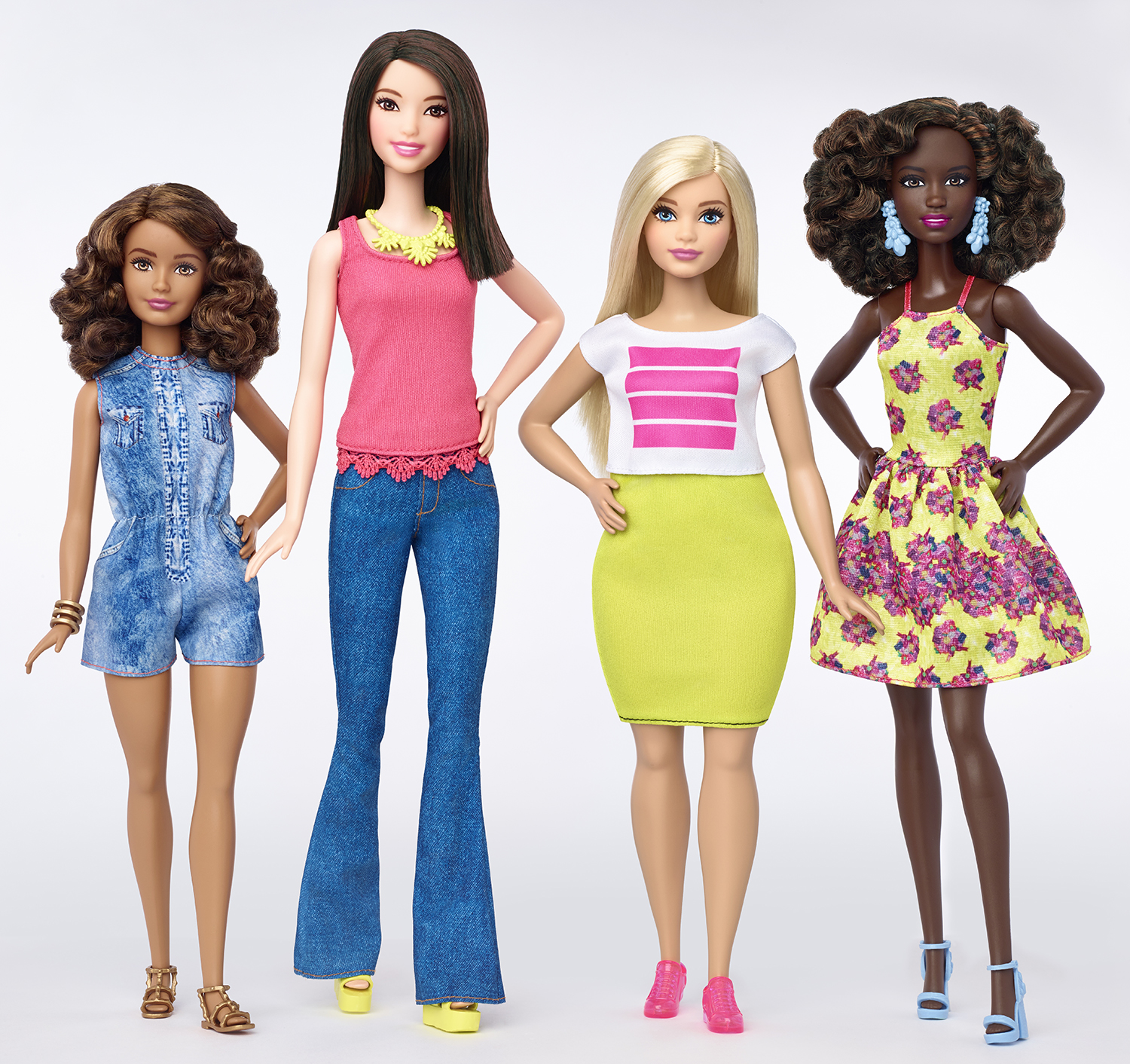 A new Barbie line for 2016 will feature four body types, seven skin tones, 22 eye colors, 24 hairstyles and of course, new clothes.
