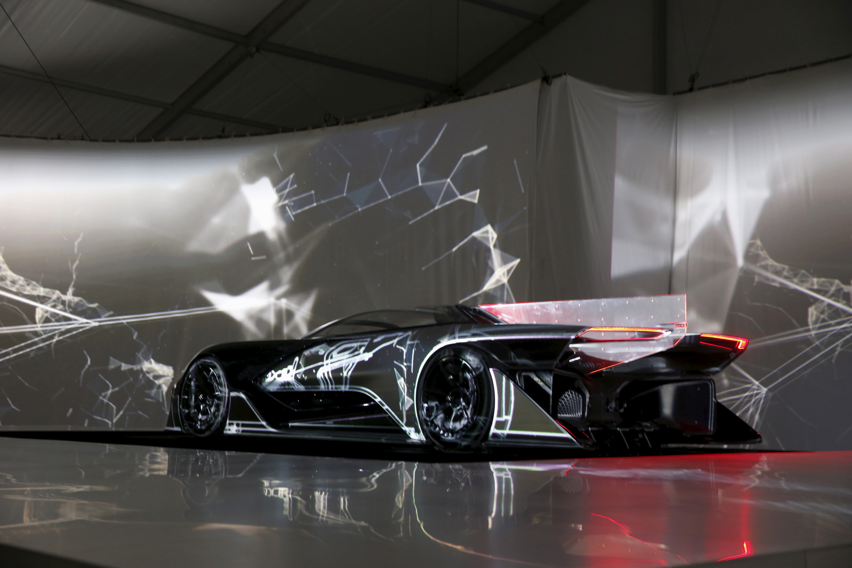 The Faraday Future FFZERO1 electric concept car is unveiled during a news conference in Las Vegas