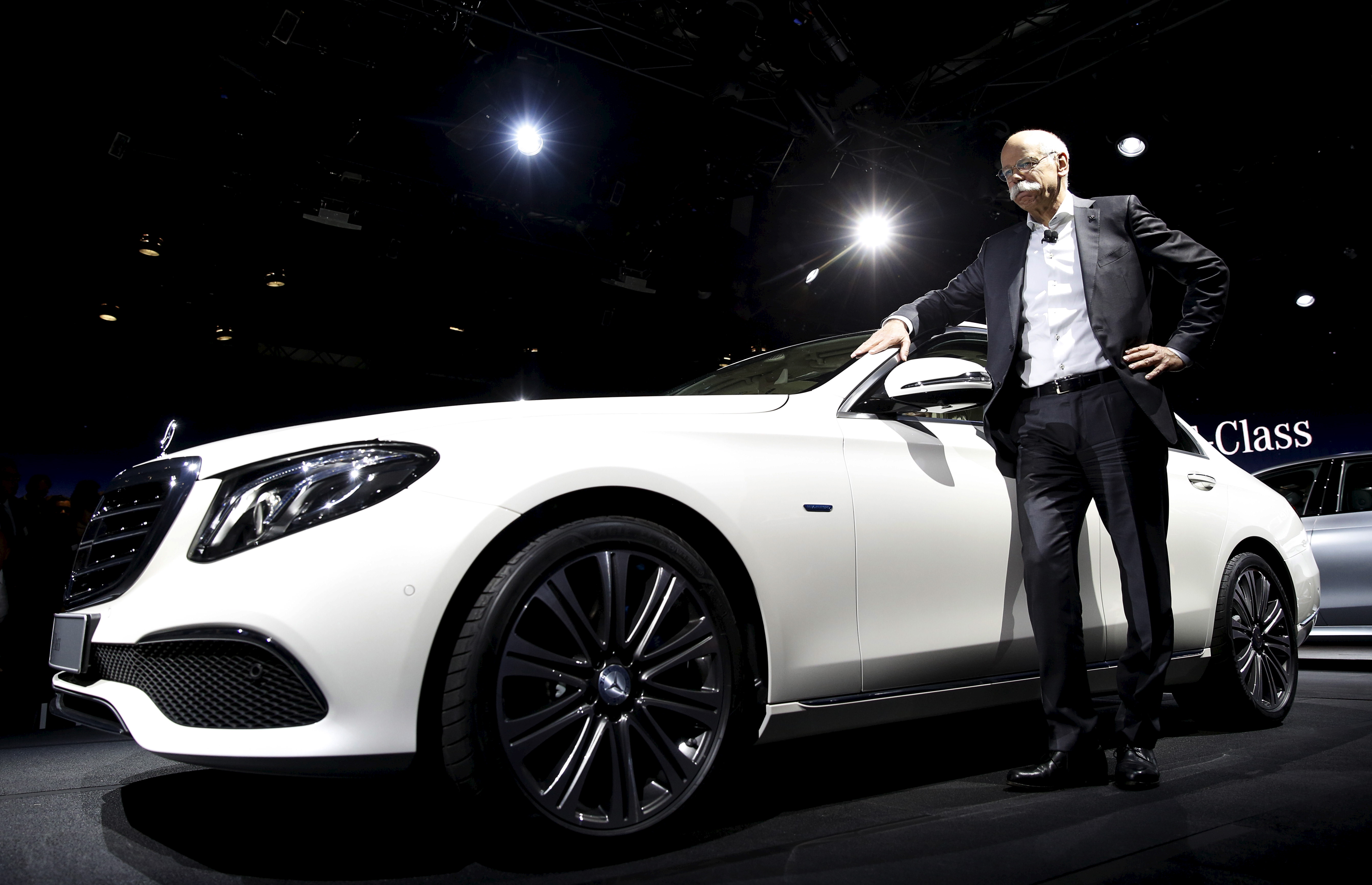 Mercedes Benz Chair Zetsche introduces new Mercedes-Benz E-Class at reception prior to opening of the North American International Auto Show in Detroit