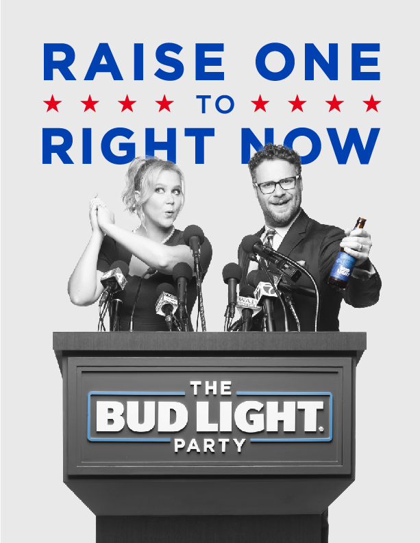 Bug Light's new ad campaign is politically themed –though Anheuser-Busch InBev promises it will be bipartisan.