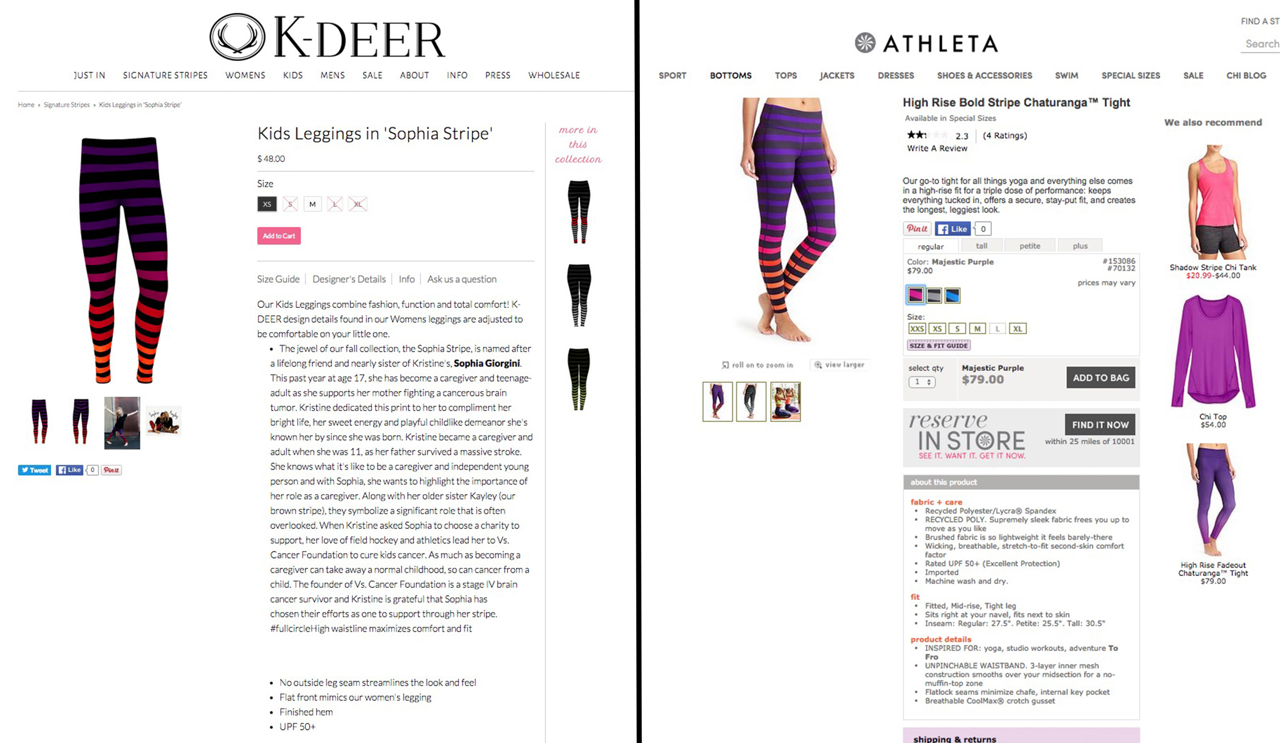 2be6a4f959dd42 Athleta Is Accused of 'Ripping Off' New Jersey Designer's Yoga Pants ...