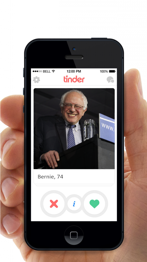 Actually, this candid shot of Bernie Sanders could work well.