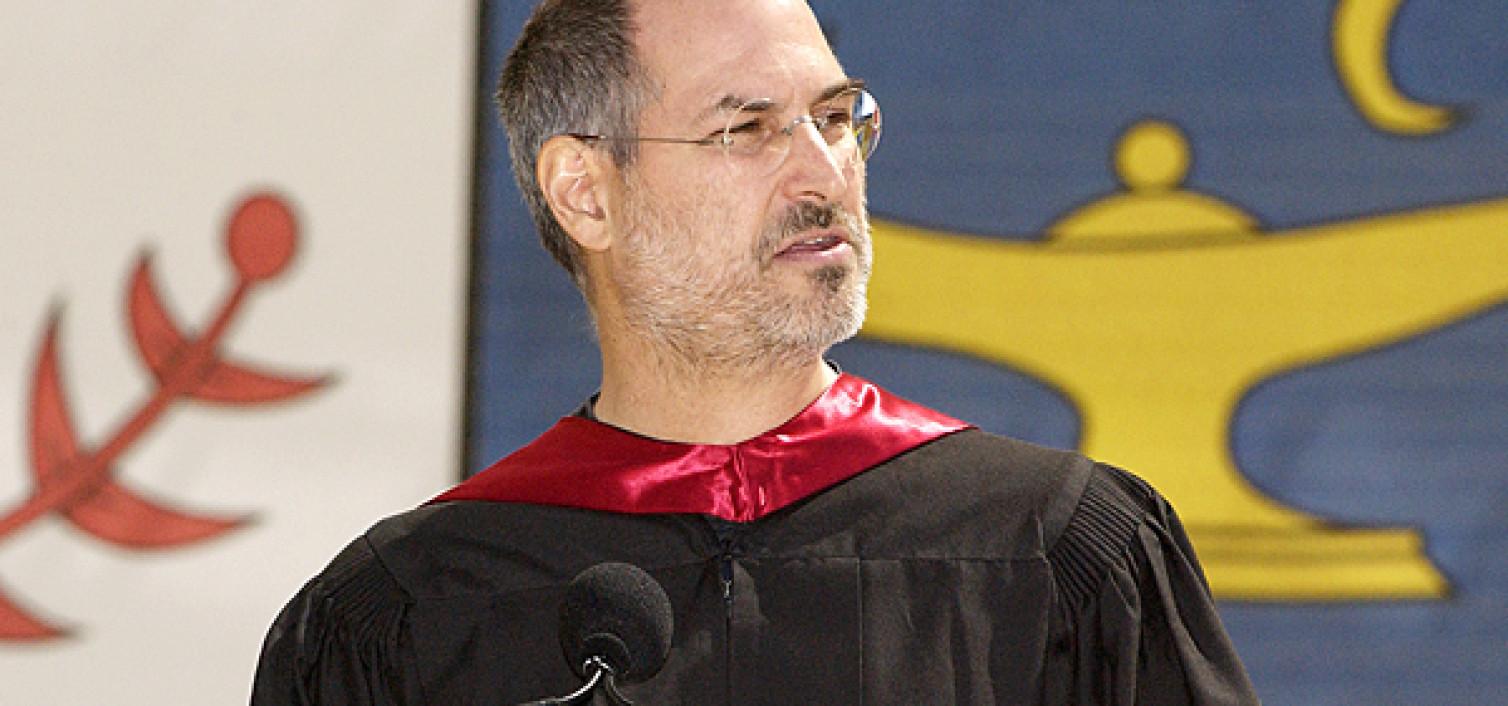 Steve Jobs speaks to Stanford University's Class of 2005.