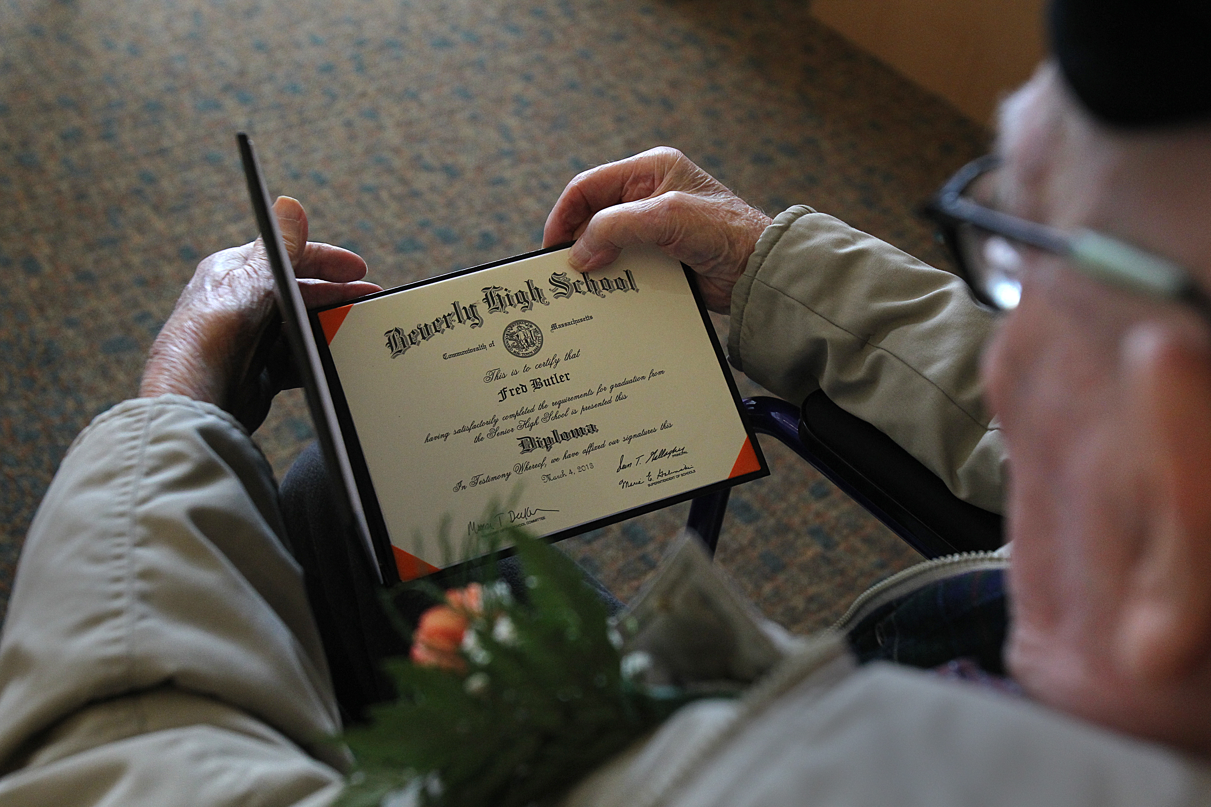 At 106, Beverly Man Proud To Hold High School Diploma