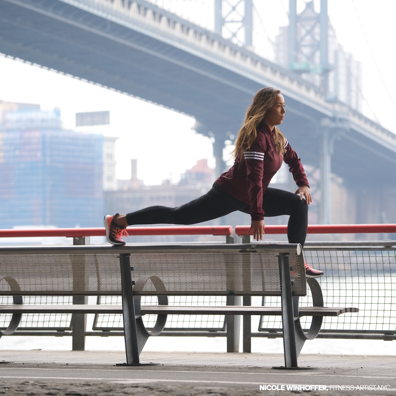 Adidas is launching a new quarterly  women-only subscription service. The first shipment was curated by fitness artist Nicole Winhoffer, seen above.