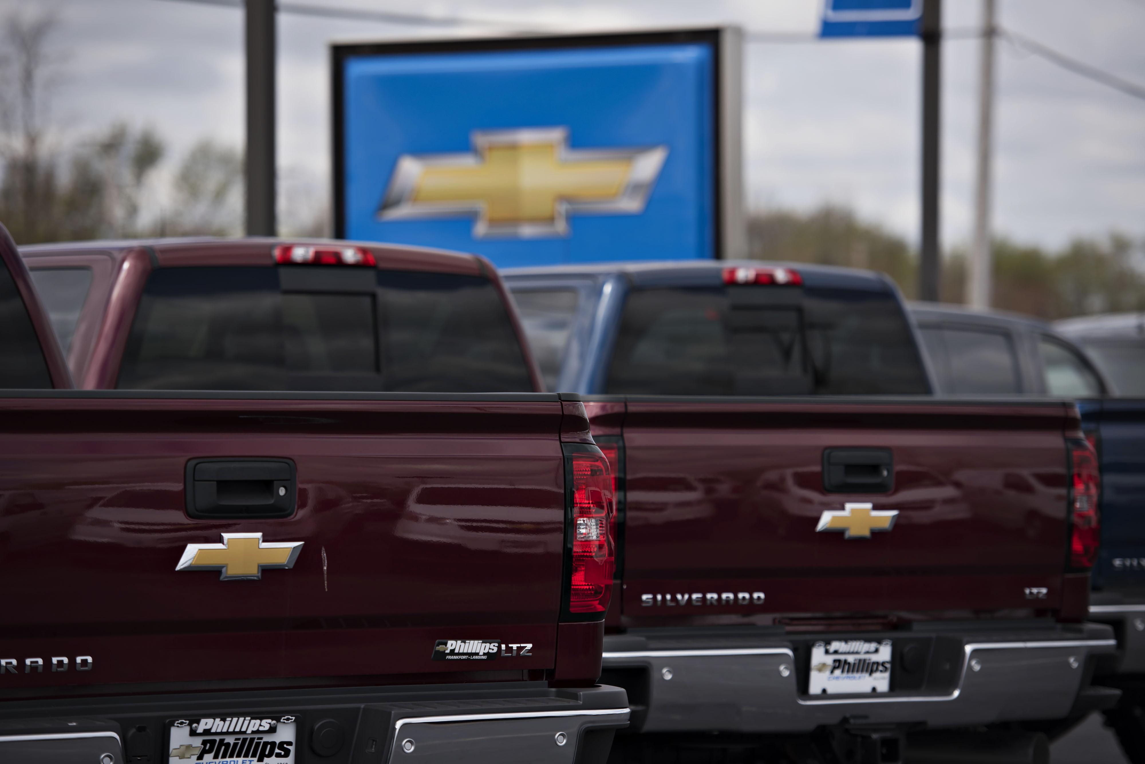 A General Motors Co. Dealership Ahead Of Motor Vehicle Sales Figures