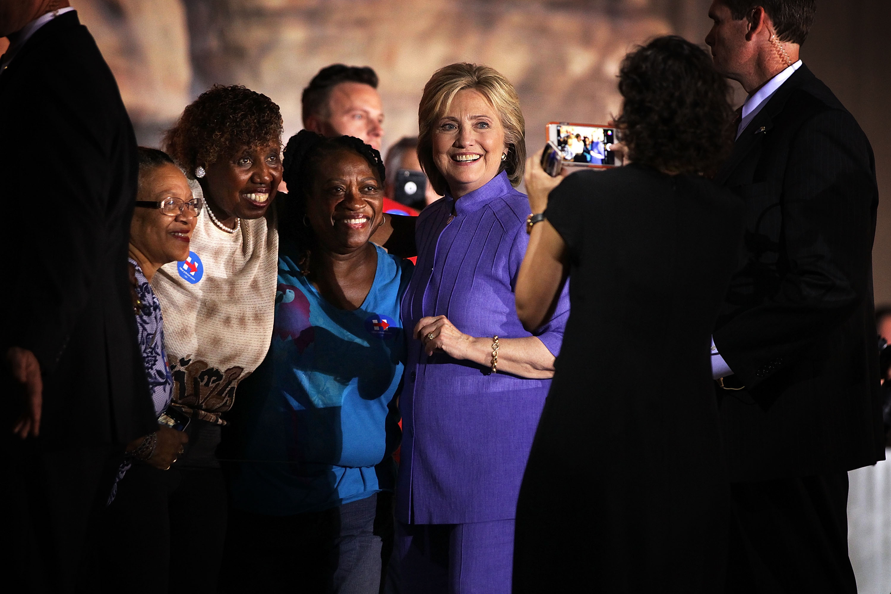 Hillary Clinton Campaigns In Las Vegas Day After Debate
