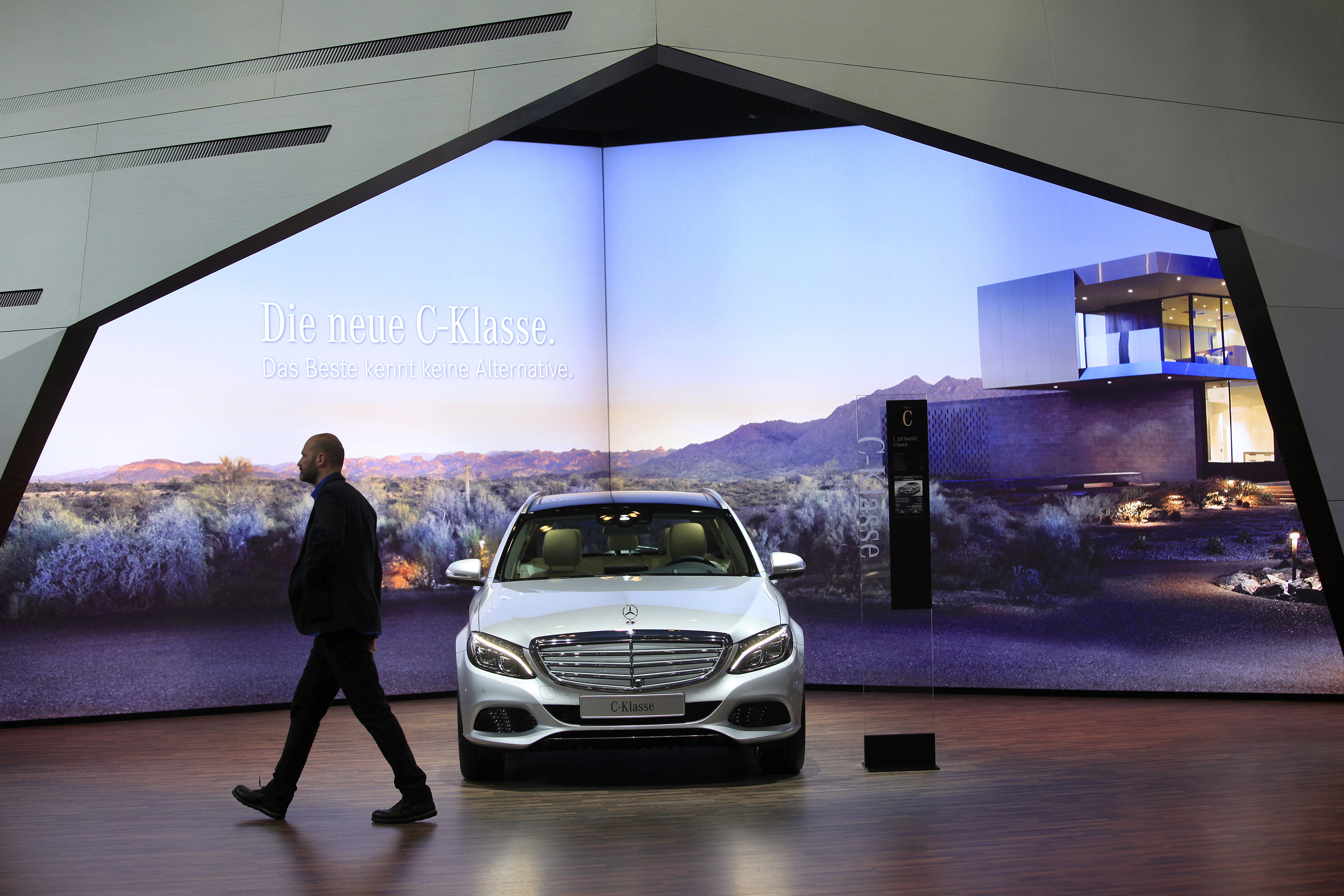 Automobiles On Display At The Auto Mobil International Show