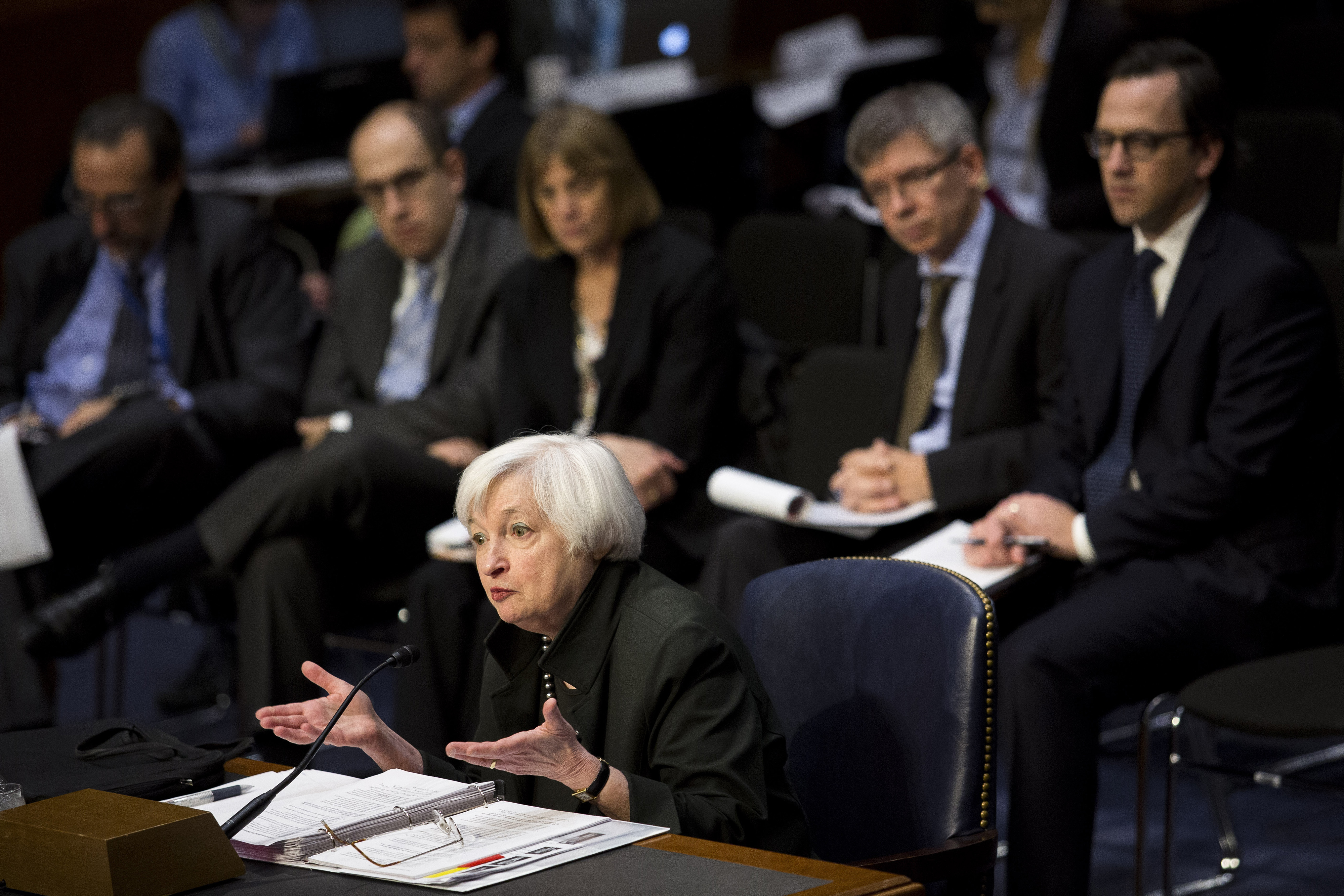 Federal Reserve Chair Janet Yellen Testifies Before The Joint Economic Committee