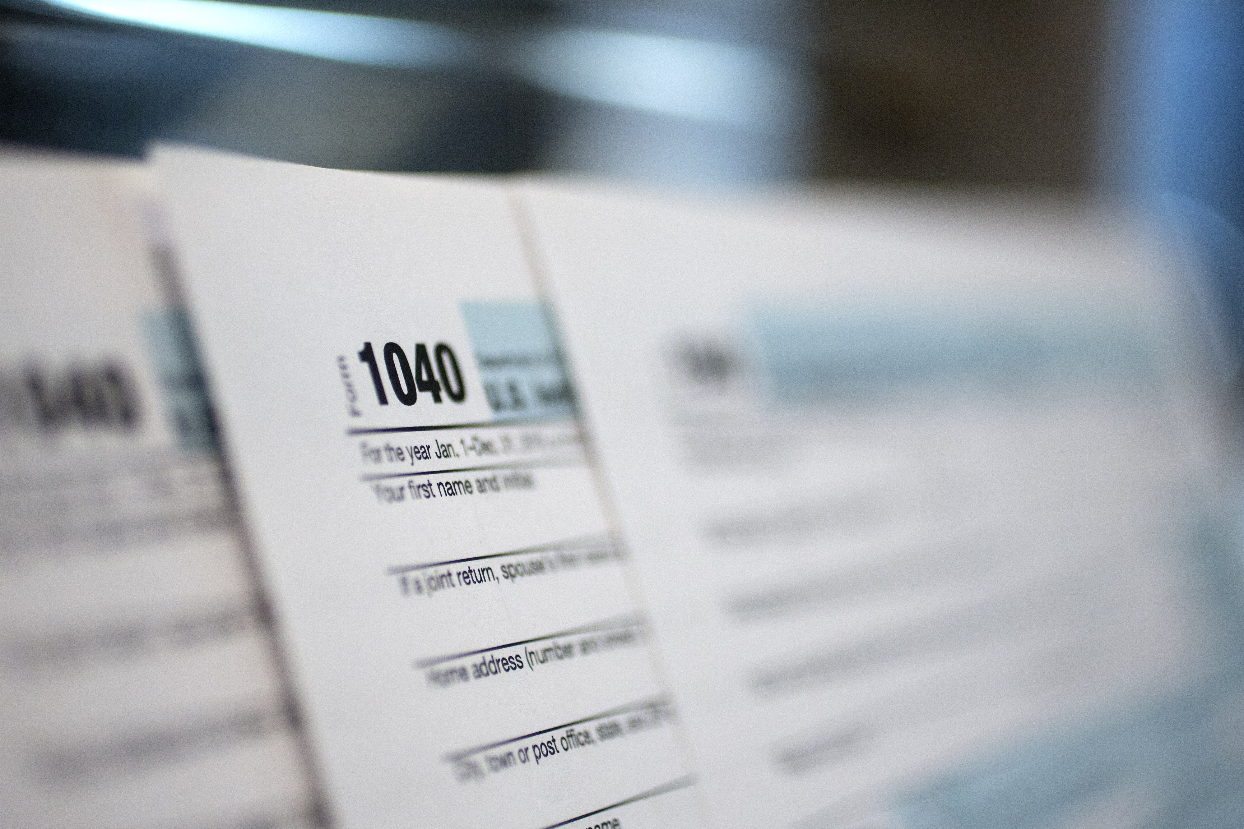 Images Of 1040 Forms As IRS Begins To Accept Tax Returns