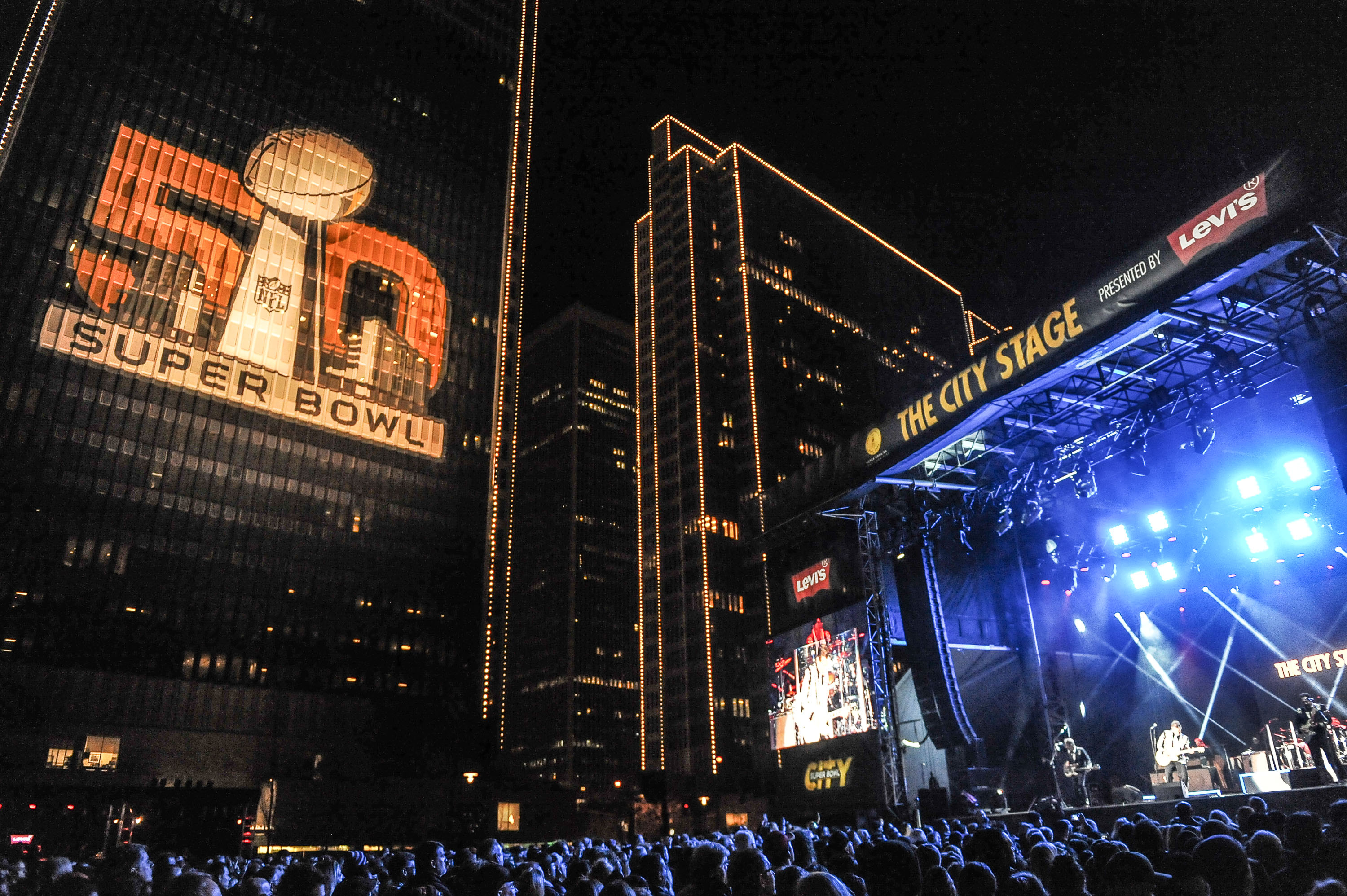 Super Bowl City Opening Night Celebration - Chris Isaak in Concert