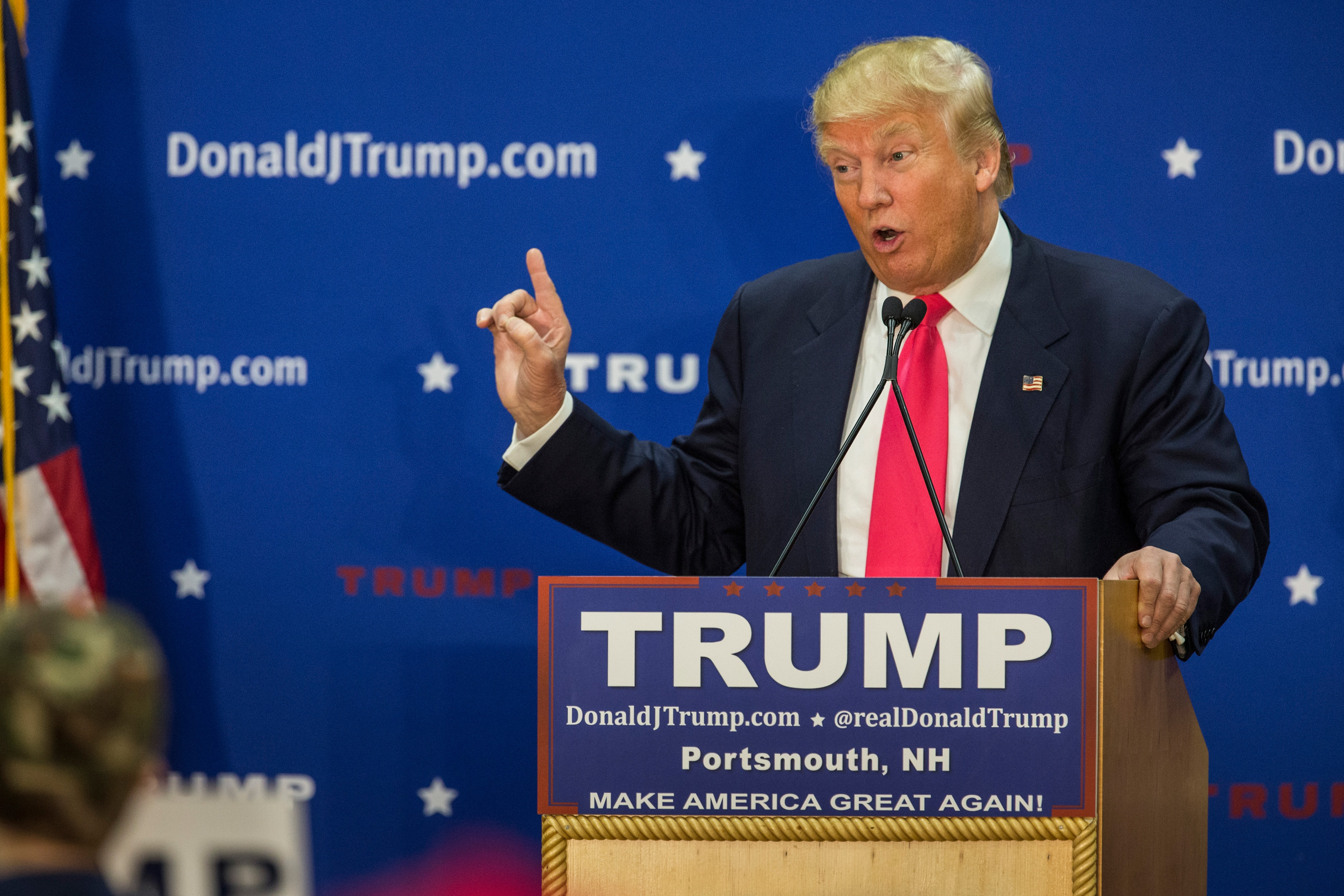 Donald Trump Campaigns In New Hampshire Ahead Of Primary