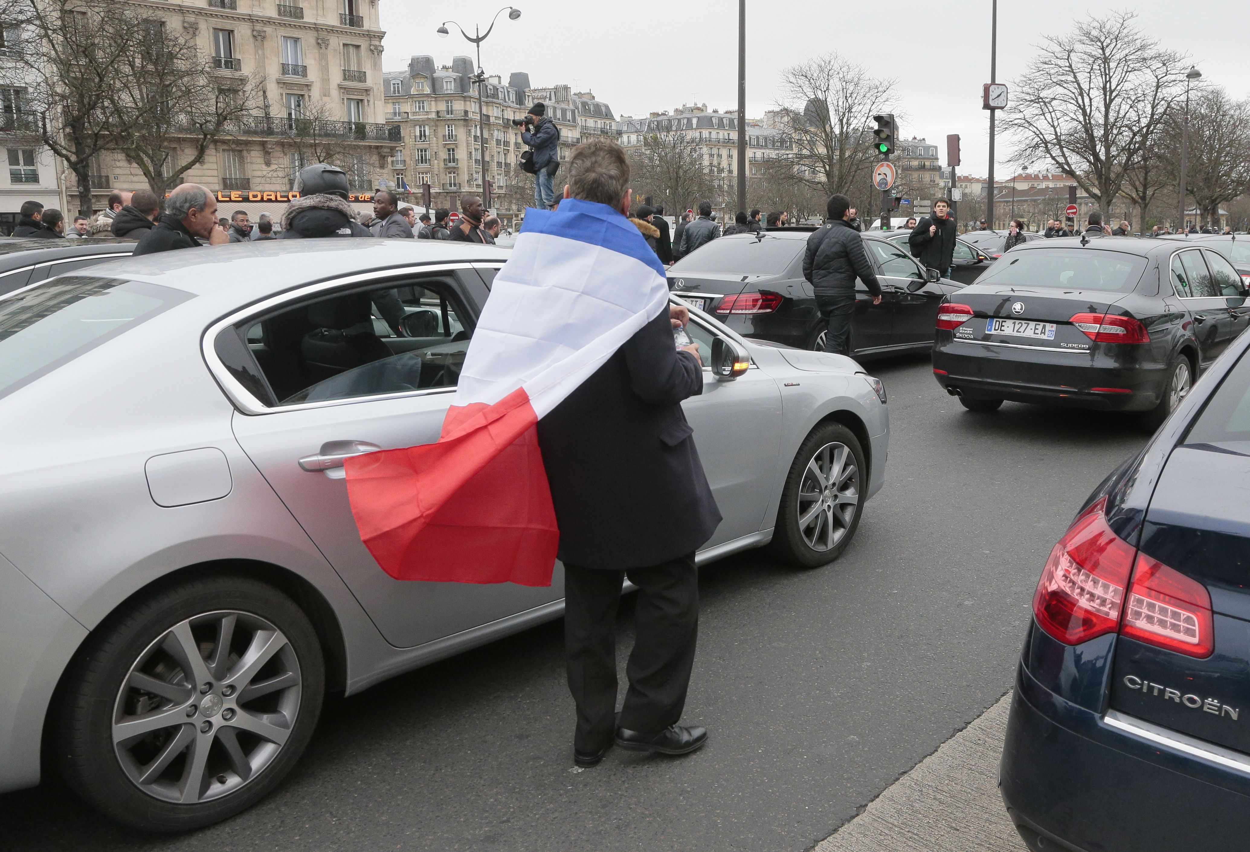 FRANCE-TRANSPORT-PRIVATE-VTC-TAXIS-DEMO